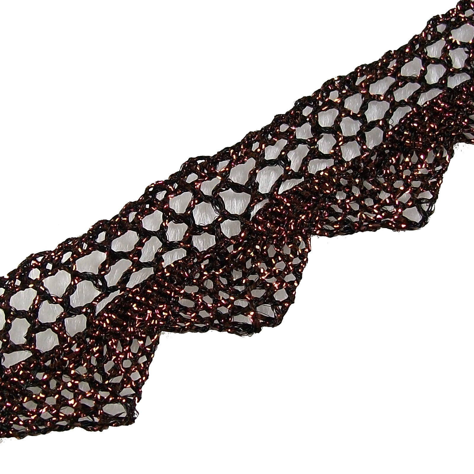 Metallic Colour Lace 2cm Wide Bronze 1 metre length