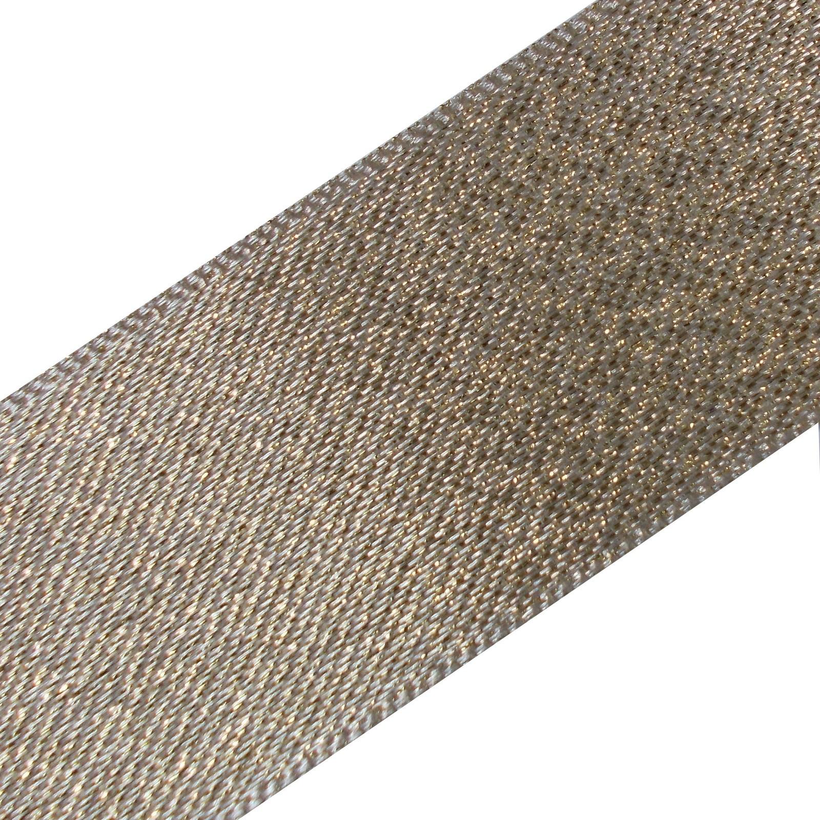 Berisfords Glitter Satin Ribbon 10mm wide Light Gold 1 metre length