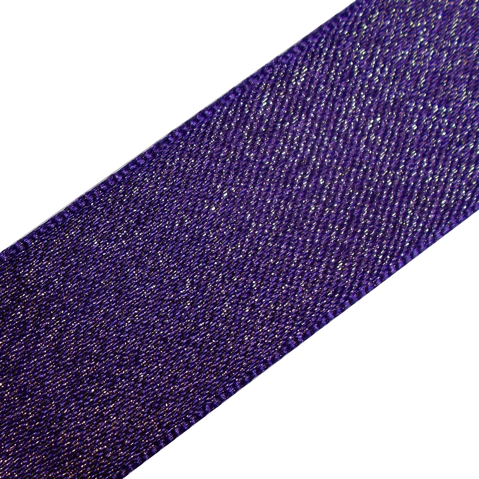 Berisfords Glitter Satin Ribbon 15mm wide Purple 1 metre length