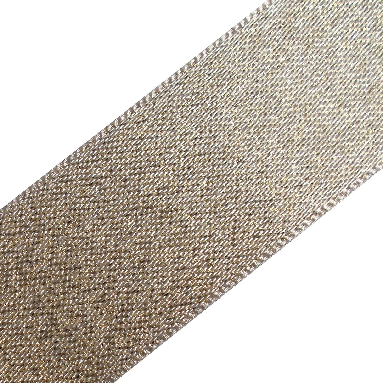 Berisfords Glitter Satin Ribbon 15mm wide White 1 metre length