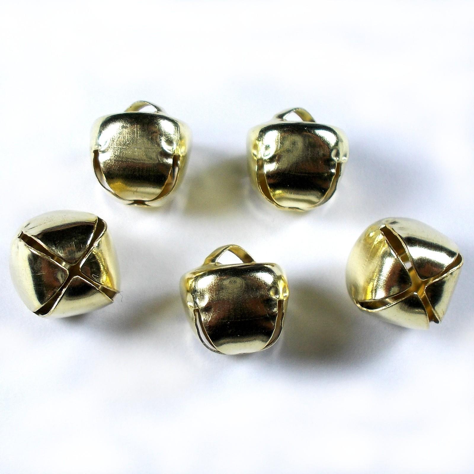 Cat Bells Sleigh Jingle Bells 10mm Gold Pack of 5