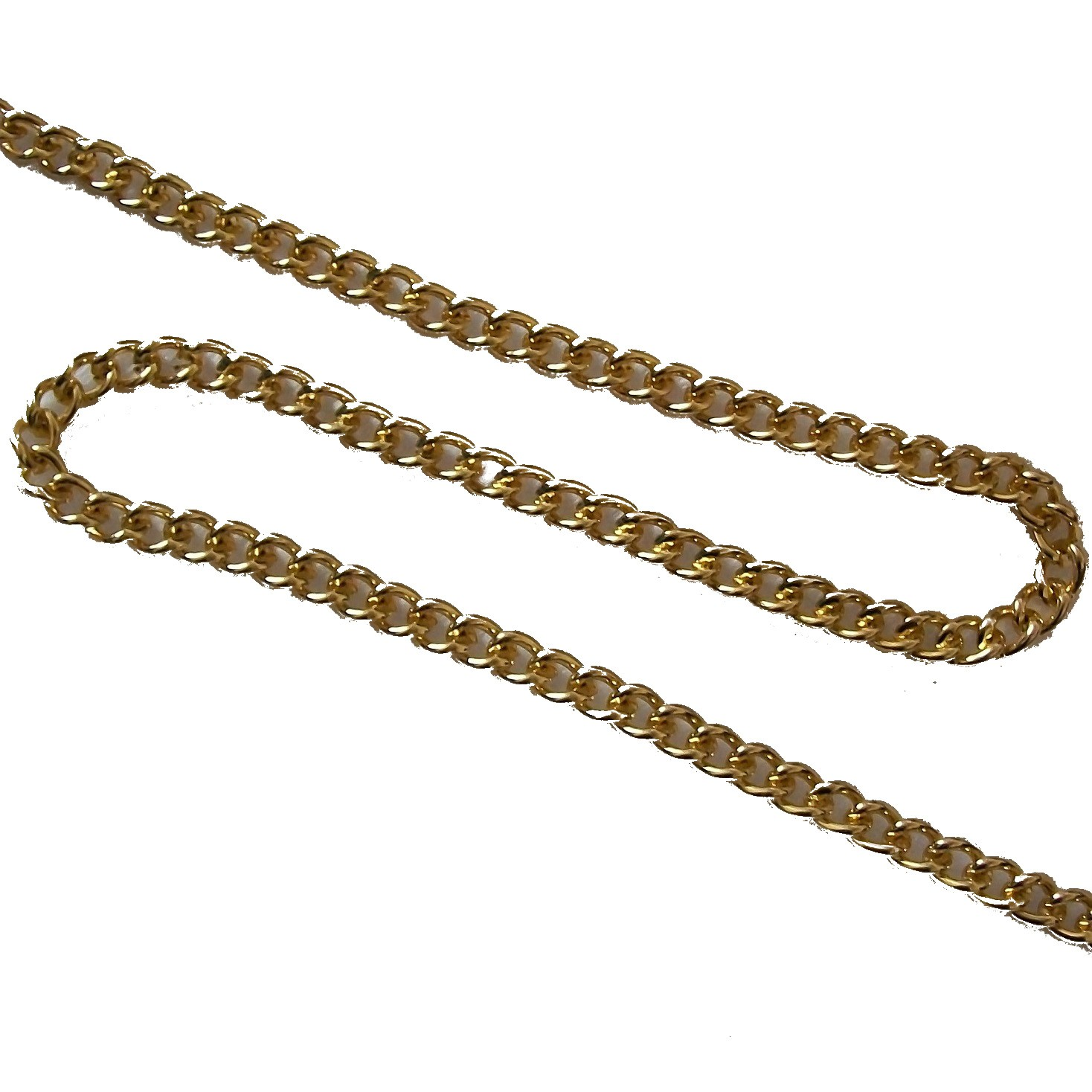 Decorative Metal Chain 5mm Wide Gold 2 Metres