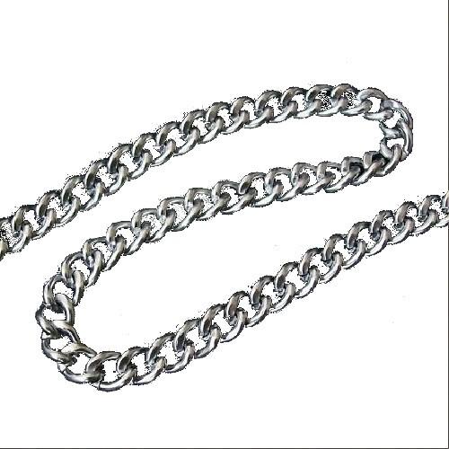 Decorative Metal Chain 5mm Wide Silver 1 Metre