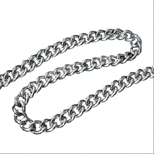 Decorative Metal Chain 5mm Wide Silver 2 Metres