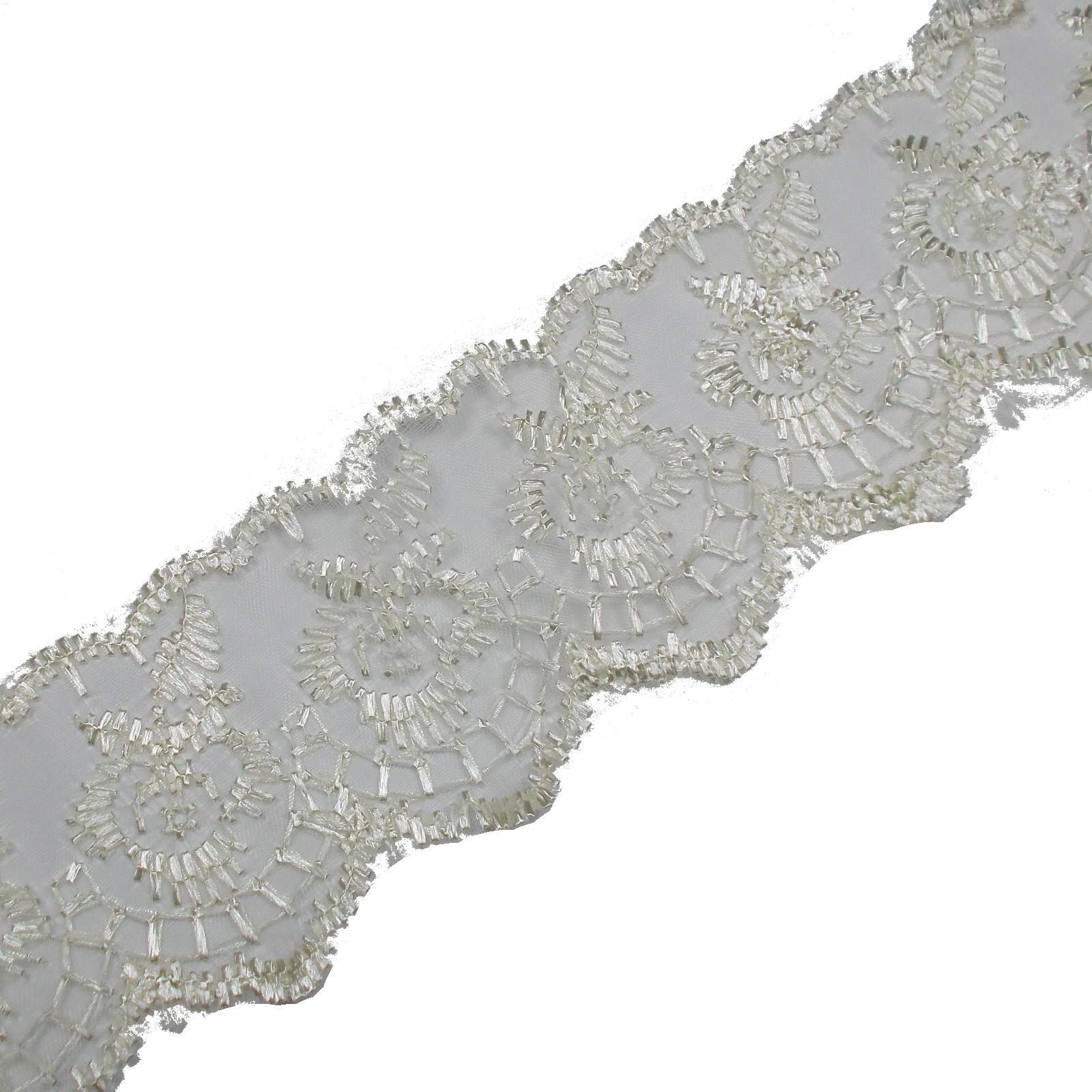Colour Lace 45mm Wide Cream 3 metre length
