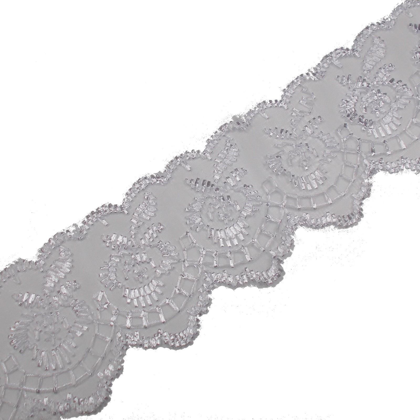 Colour Lace 45mm Wide White 3 metre length