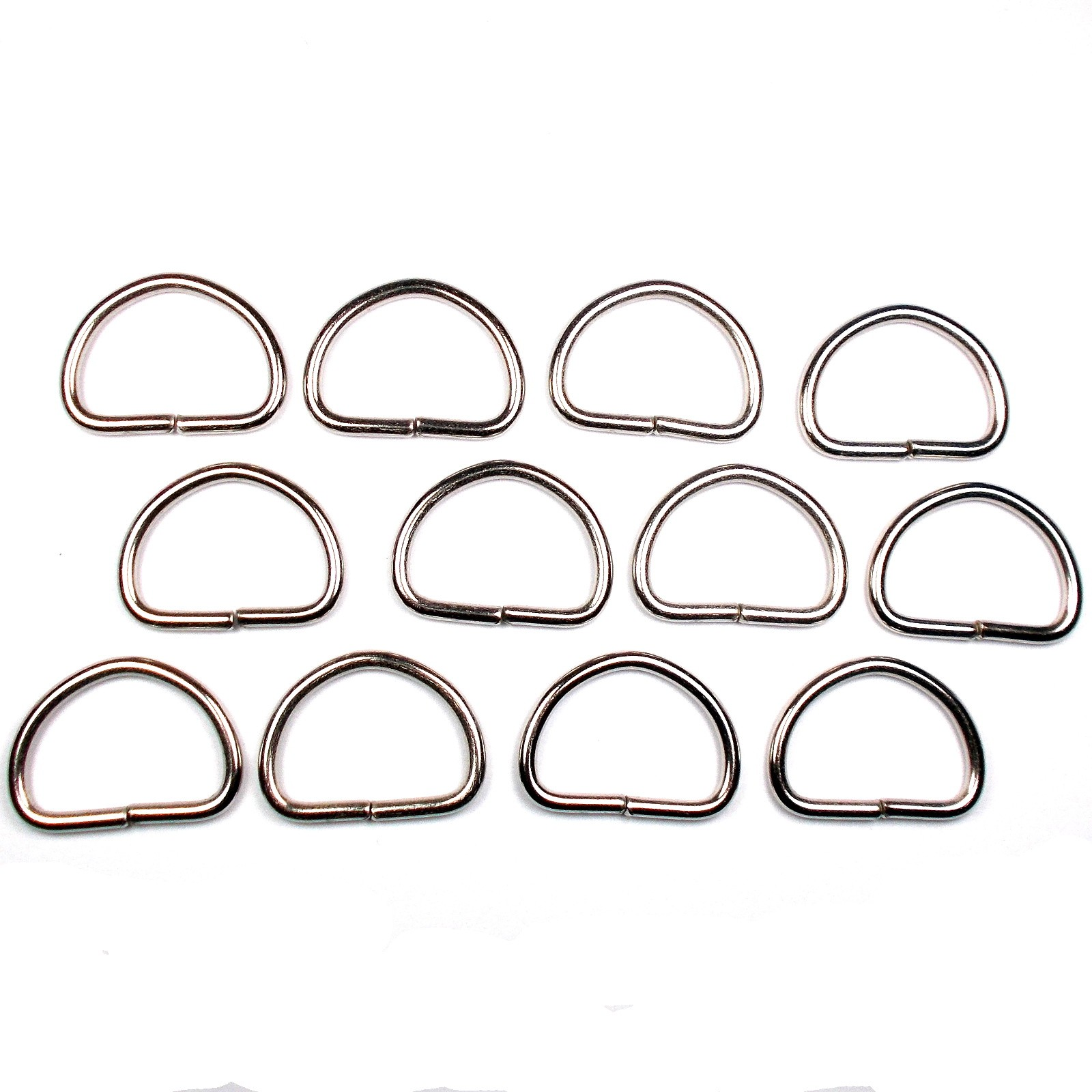 Silver Metal D Rings 47mm Pack of 12