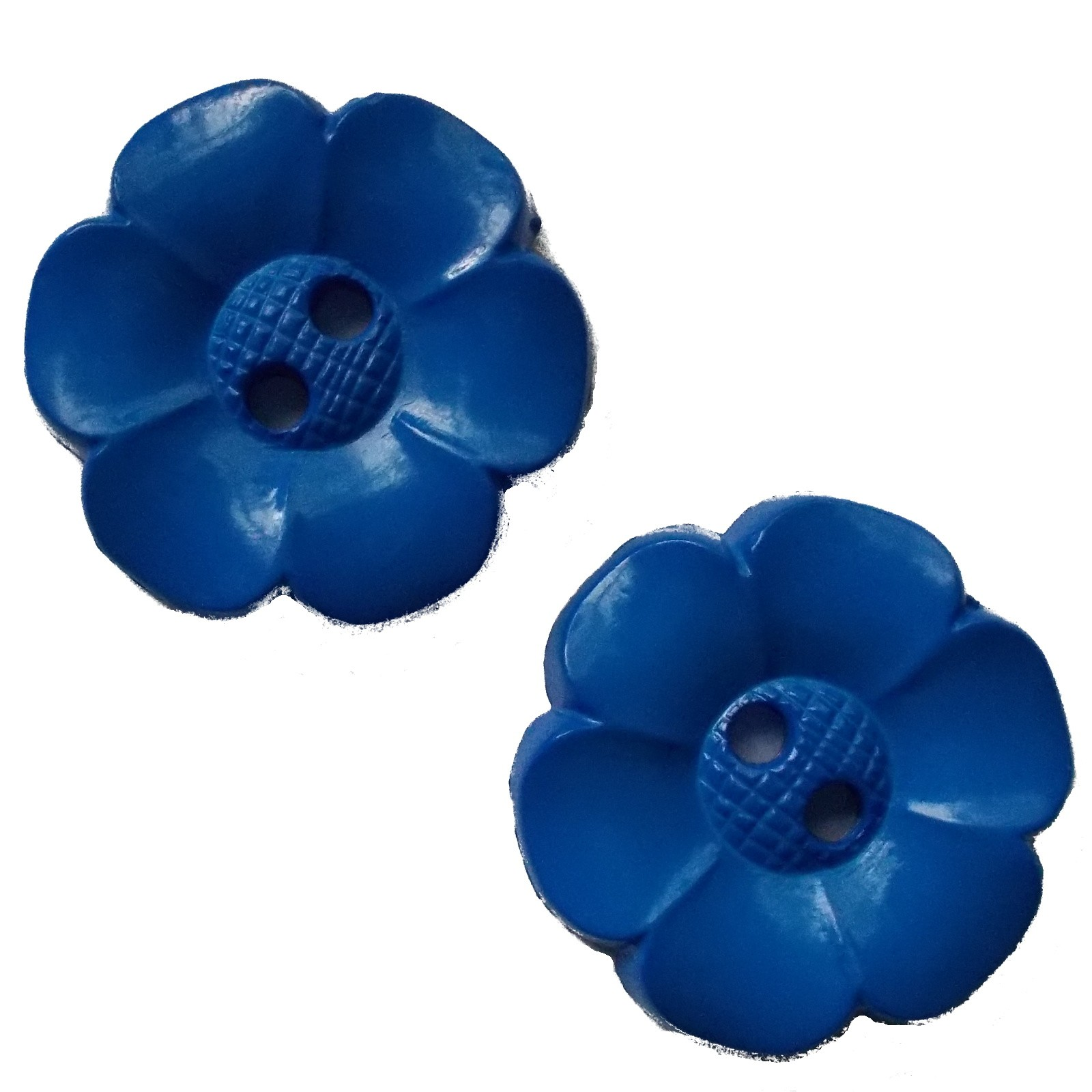 Large Daisy Flower Feature Button 63mm Blue Pack of 2