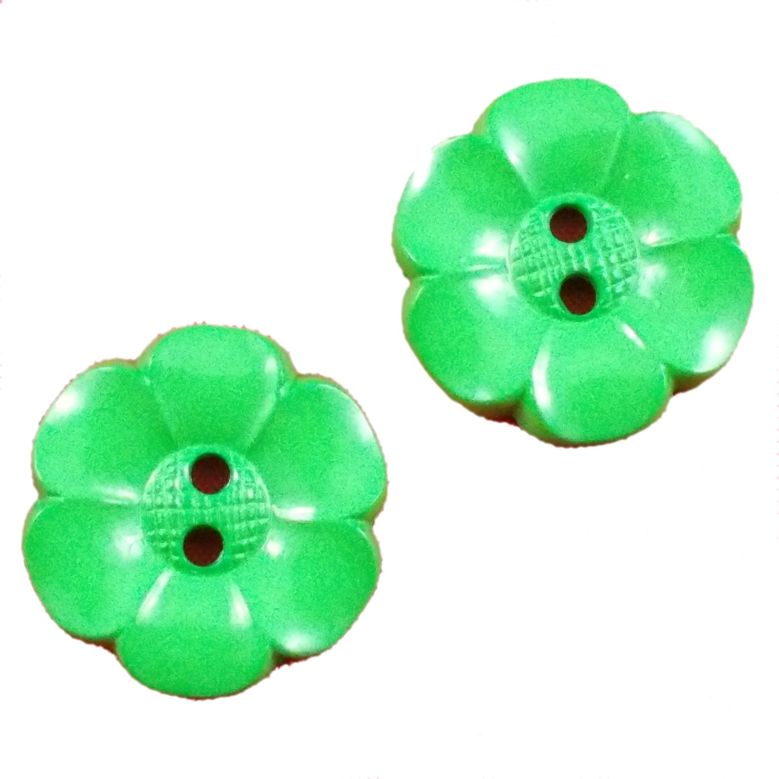 Large Daisy Flower Feature Button 63mm Green Pack of 2