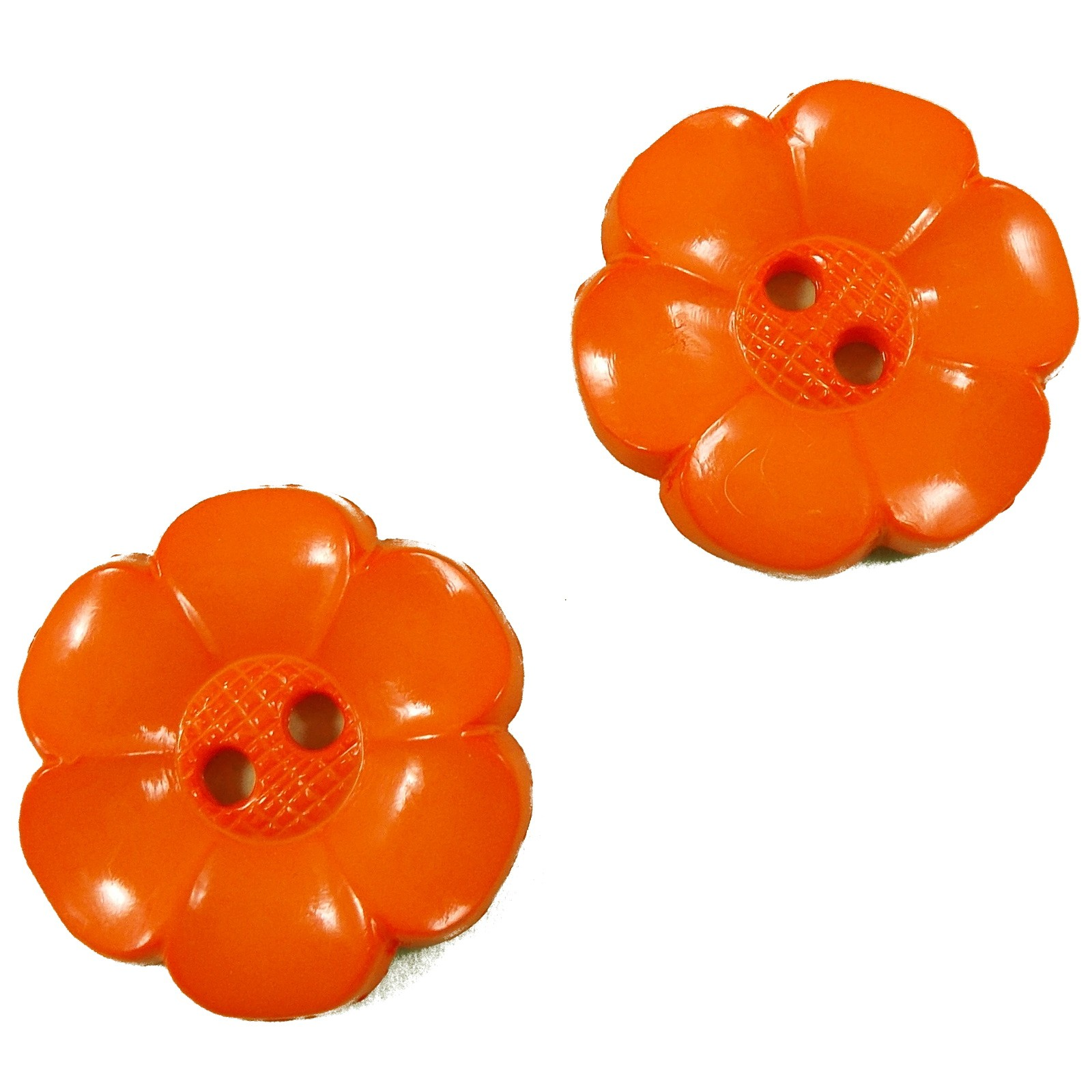 Large Daisy Flower Feature Button 63mm Orange Pack of 2