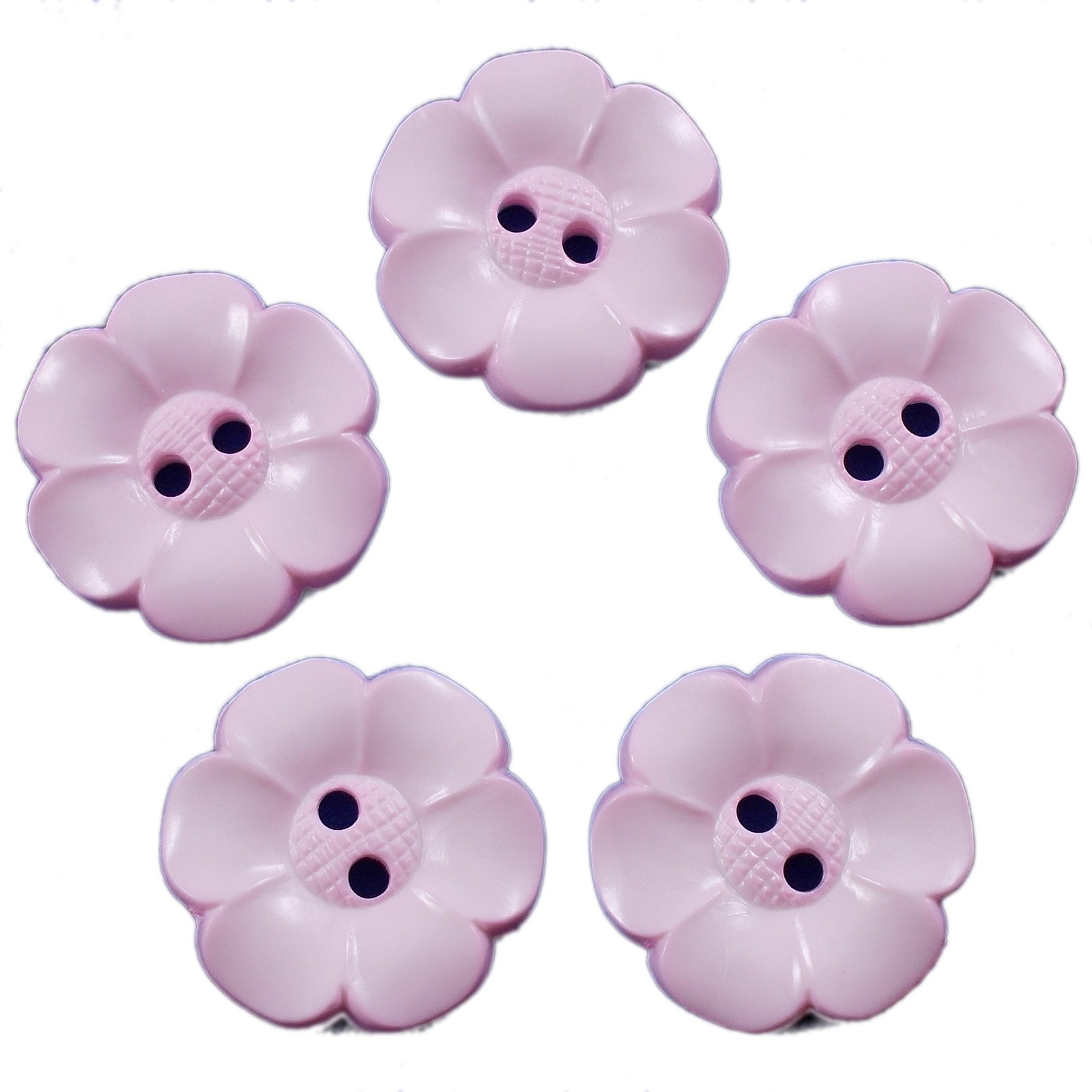 Large Daisy Flower Feature Button 22mm Pale Pink Pack of 5