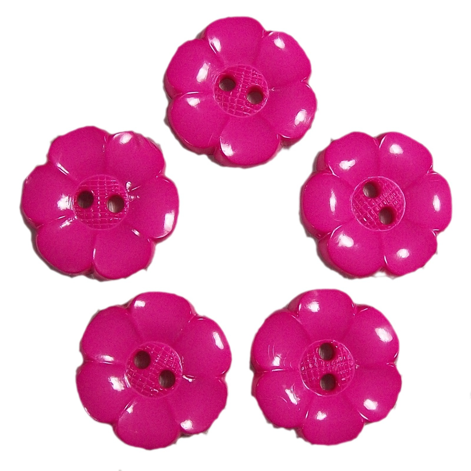 Large Daisy Flower Feature Button 22mm Pink Pack of 5