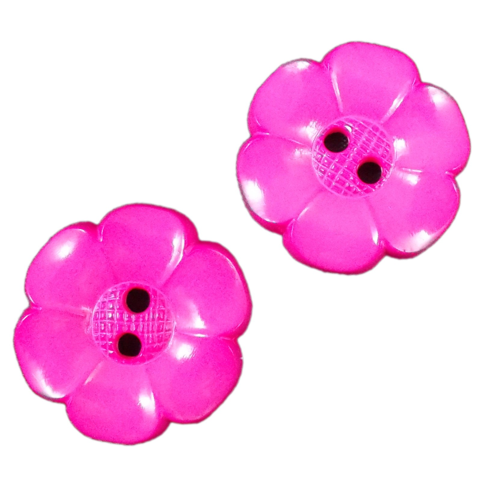 Large Daisy Flower Feature Button 63mm Pink Pack of 2