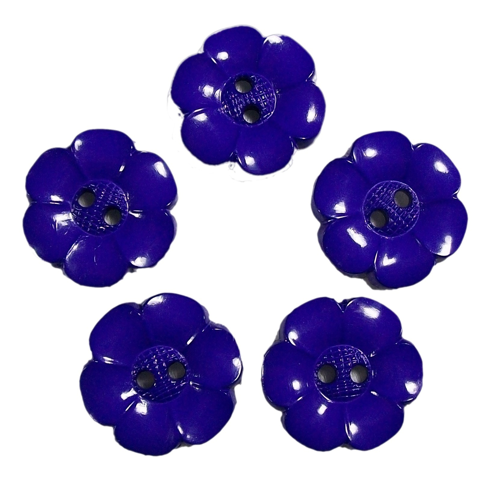 Large Daisy Flower Feature Button 22mm Purple Pack of 5