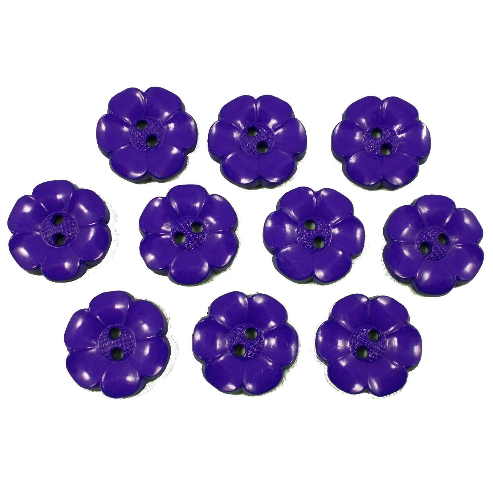 Large Daisy Flower Feature Button 38mm Purple Pack of 10