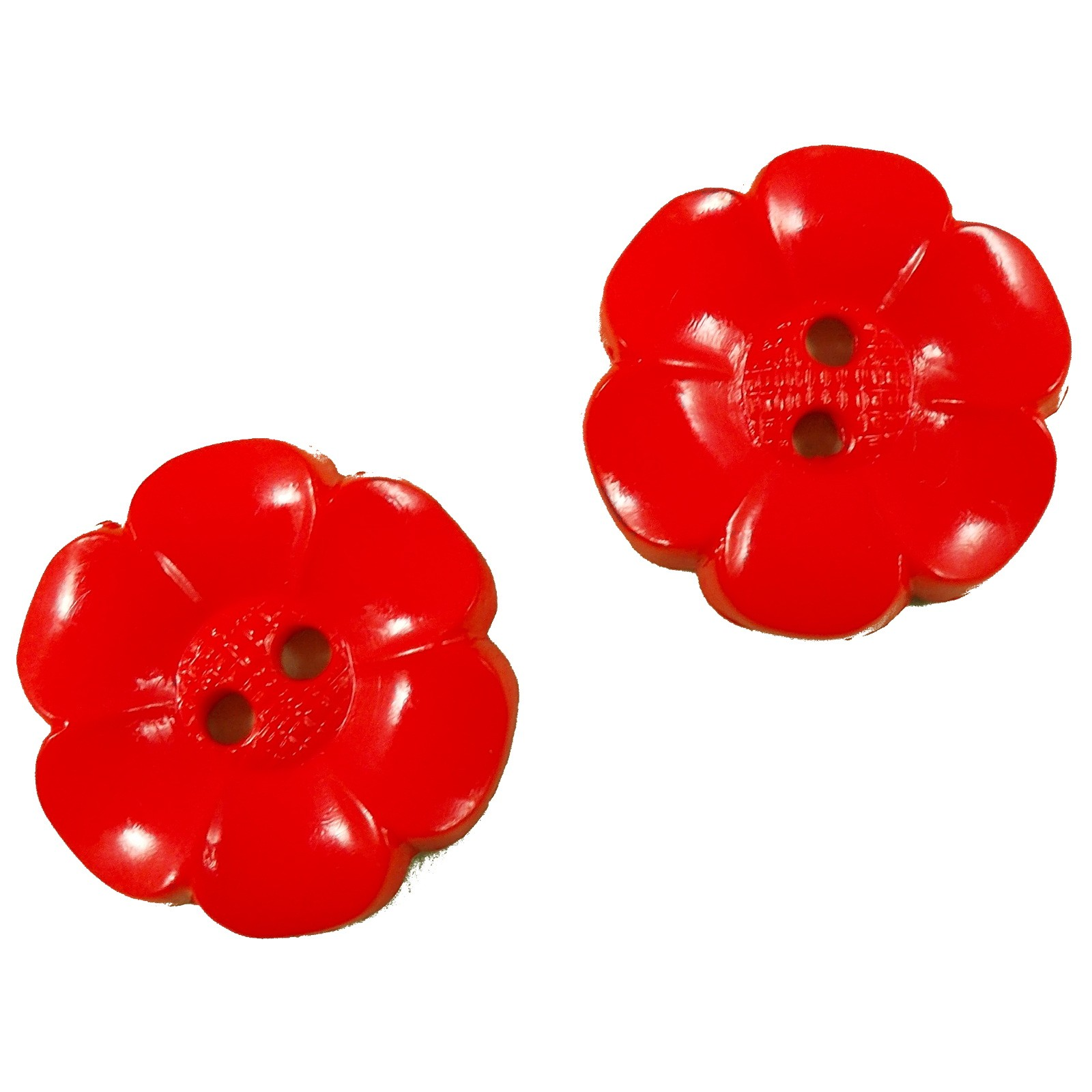 Large Daisy Flower Feature Button 63mm Red Pack of 2
