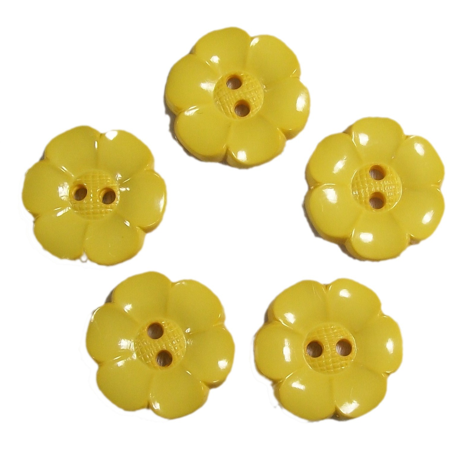 Large Daisy Flower Feature Button 38mm Yellow Pack of 5