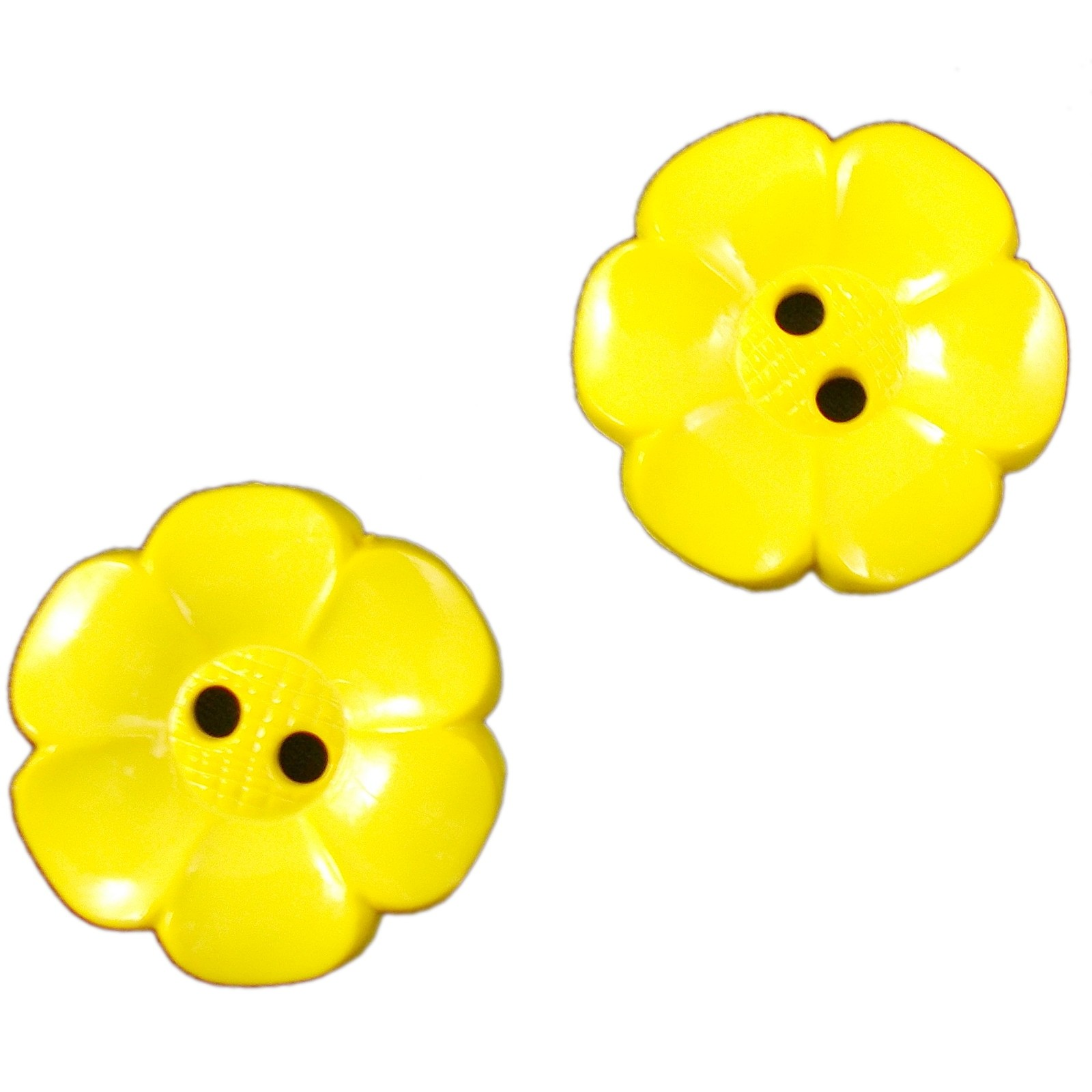 Large Daisy Flower Feature Button 63mm Yellow Pack of 2