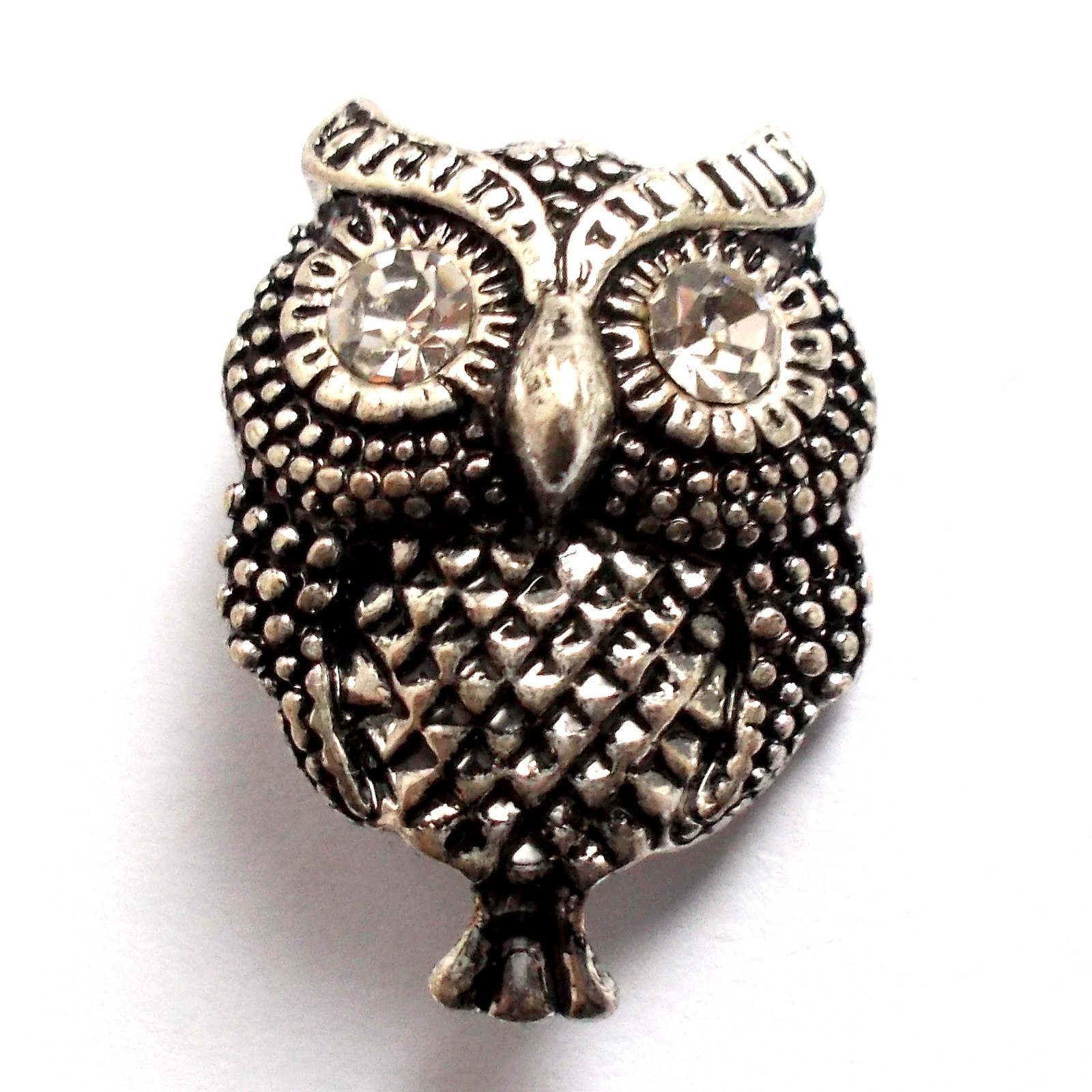 Diamante Buttons Owl 30mm Pack of 1