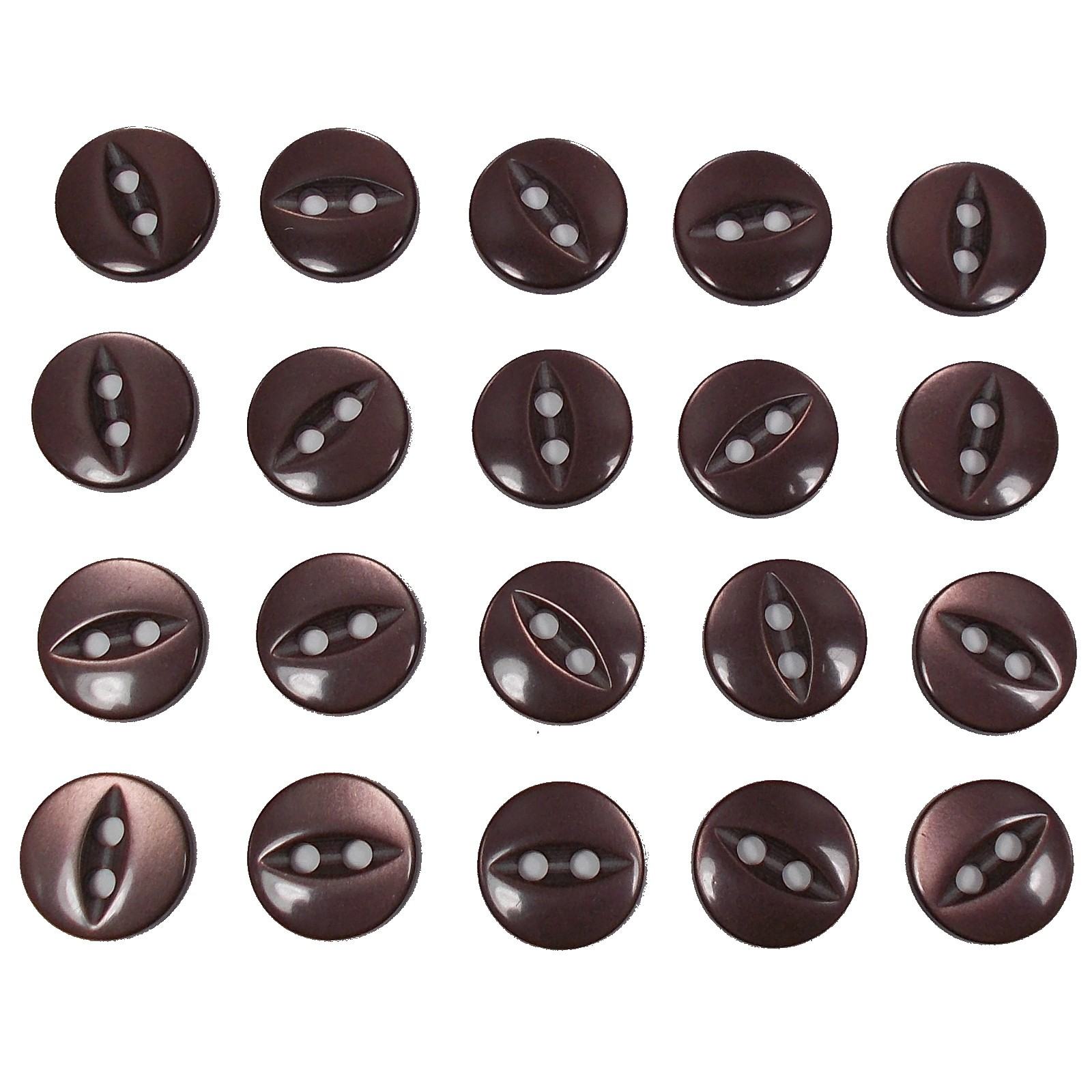 Fisheye Basic Buttons 16mm Brown Pack of 20