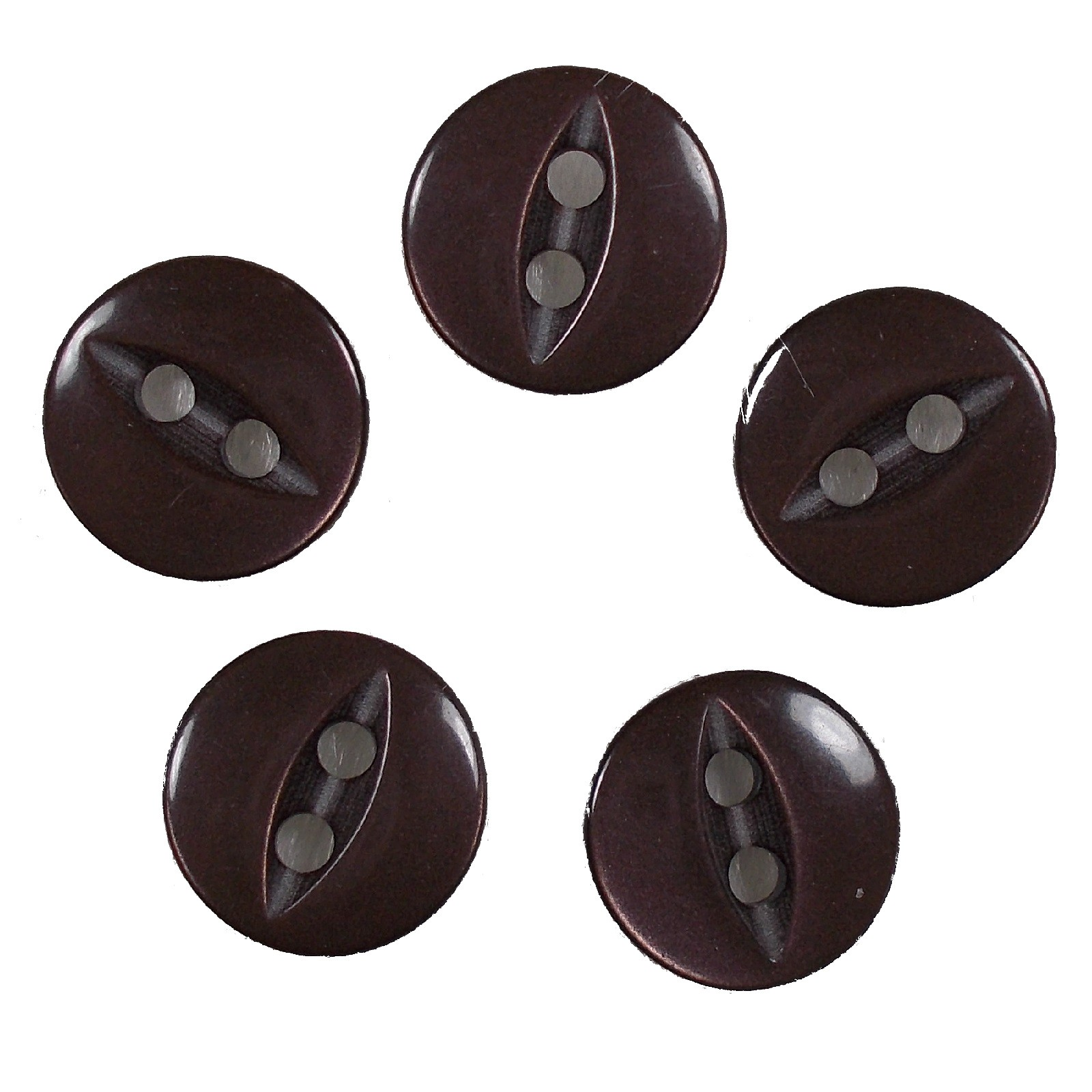 Fisheye Basic Buttons 11mm Brown Pack of 5