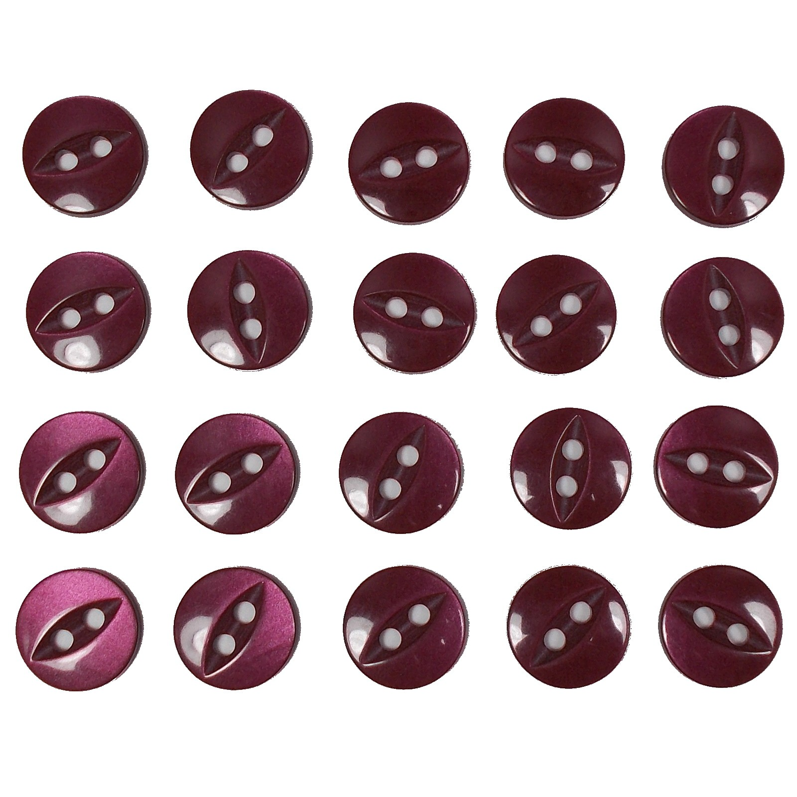 Fisheye Basic Buttons 14mm Burgundy Pack of 20