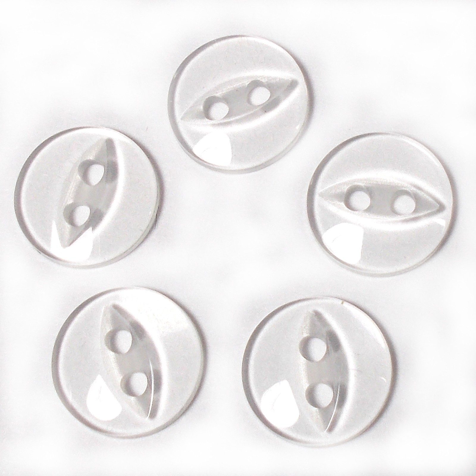 Fisheye Basic Buttons 16mm Clear Pack of 5