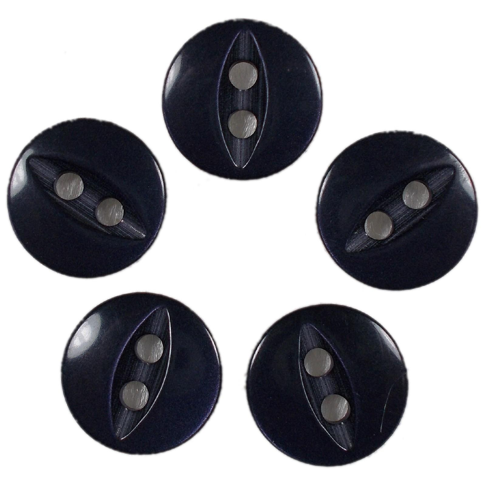 Fisheye Basic Buttons 16mm Dark Blue Pack of 5