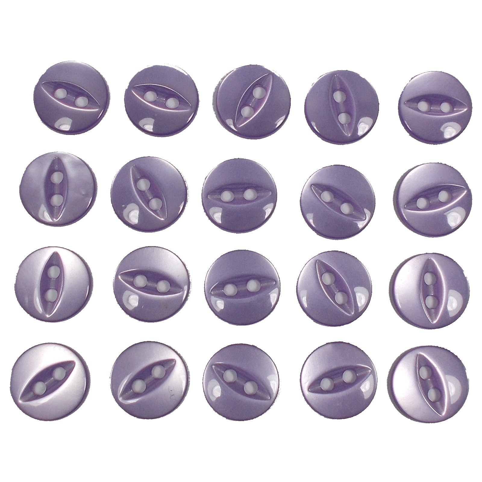 Fisheye Basic Buttons 19mm Lilac Pack of 20