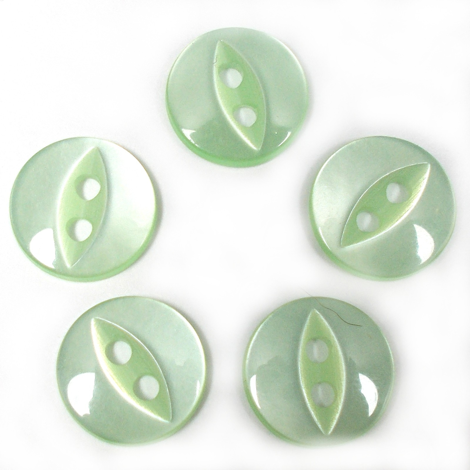 Fisheye Basic Buttons 11mm Mint Green Pack of 5