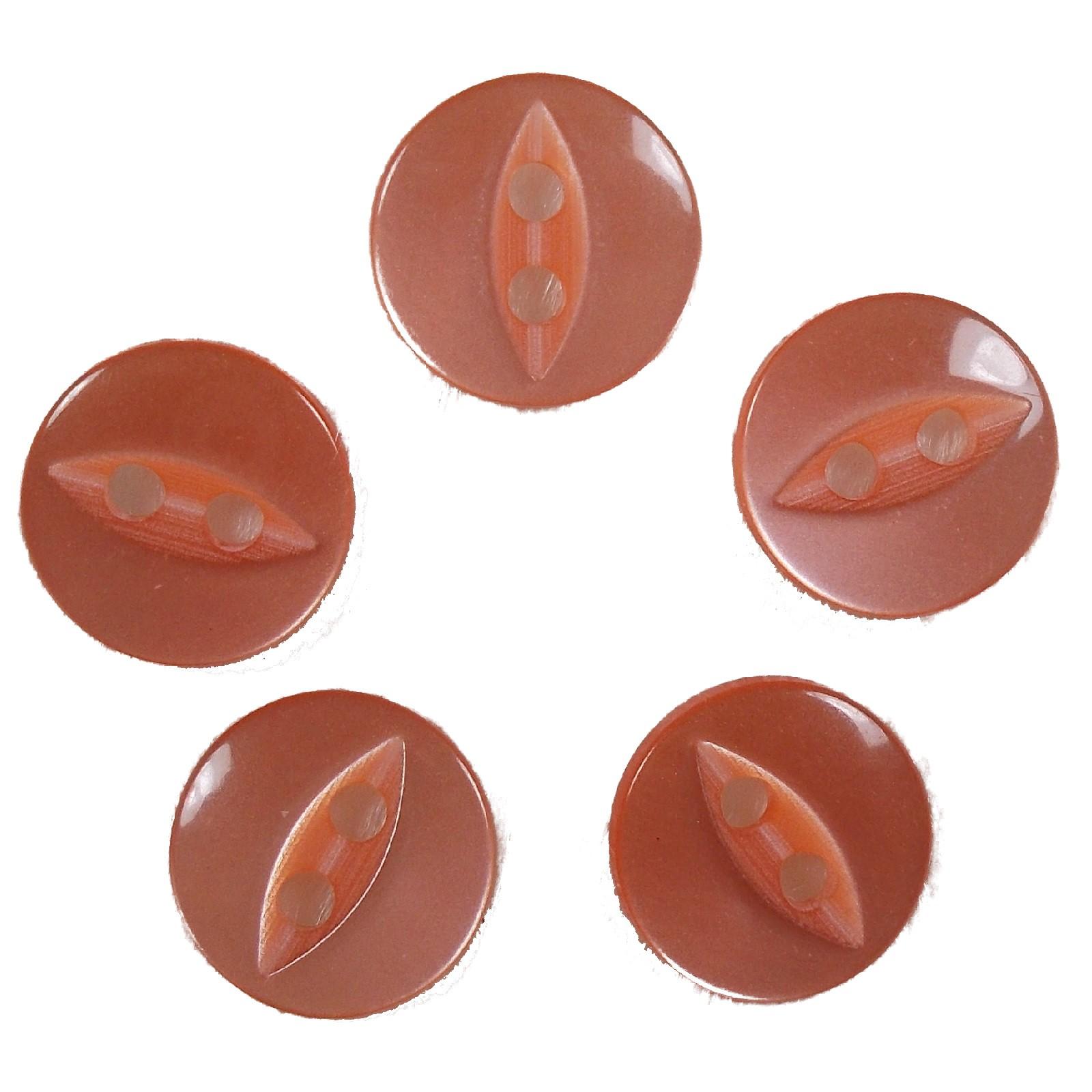 Fisheye Basic Buttons 16mm Orange Pack of 5