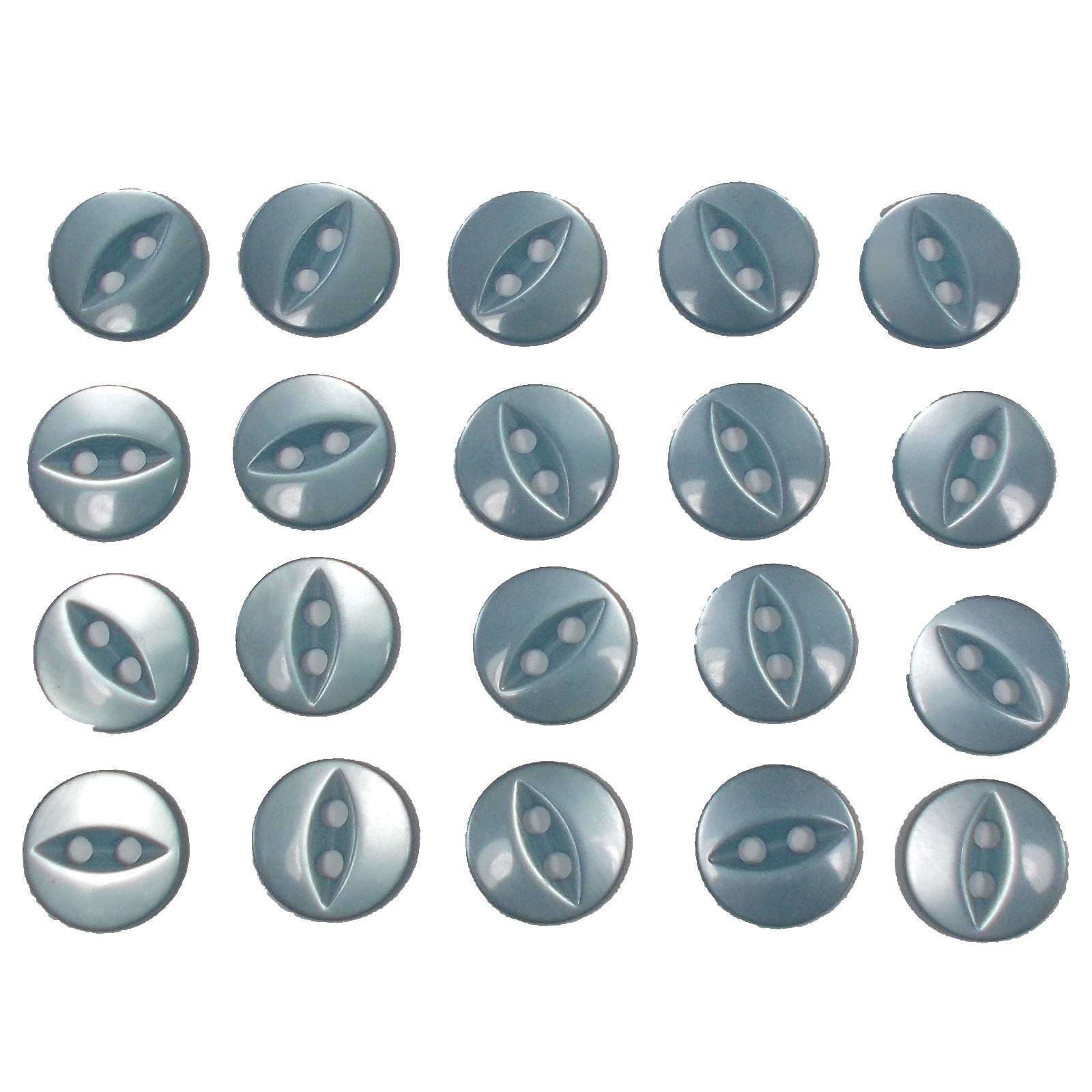 Fisheye Basic Buttons 16mm Very Pale Blue Pack of 20