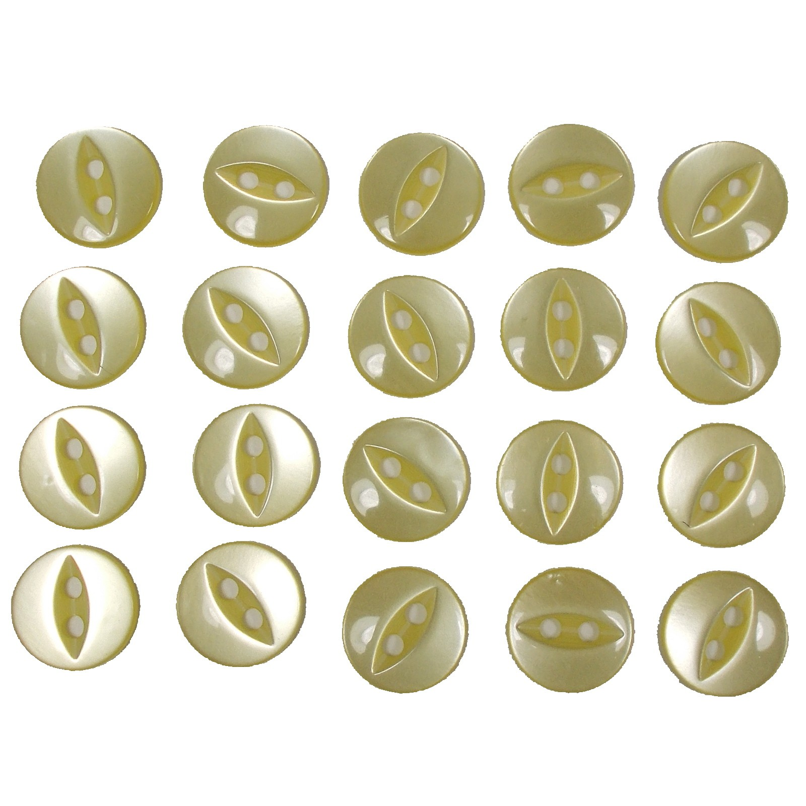 Fisheye Basic Buttons 19mm Yellow Pack of 20