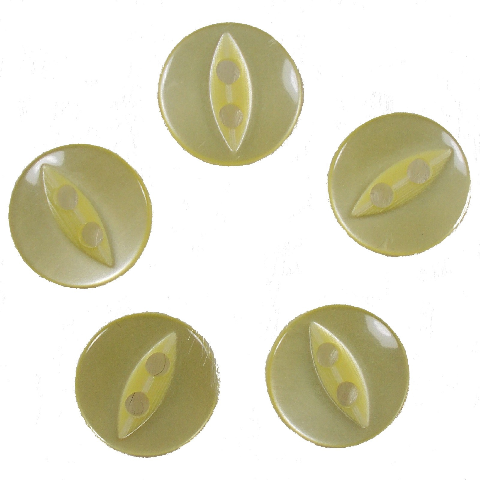 Fisheye Basic Buttons 16mm Yellow Pack of 5