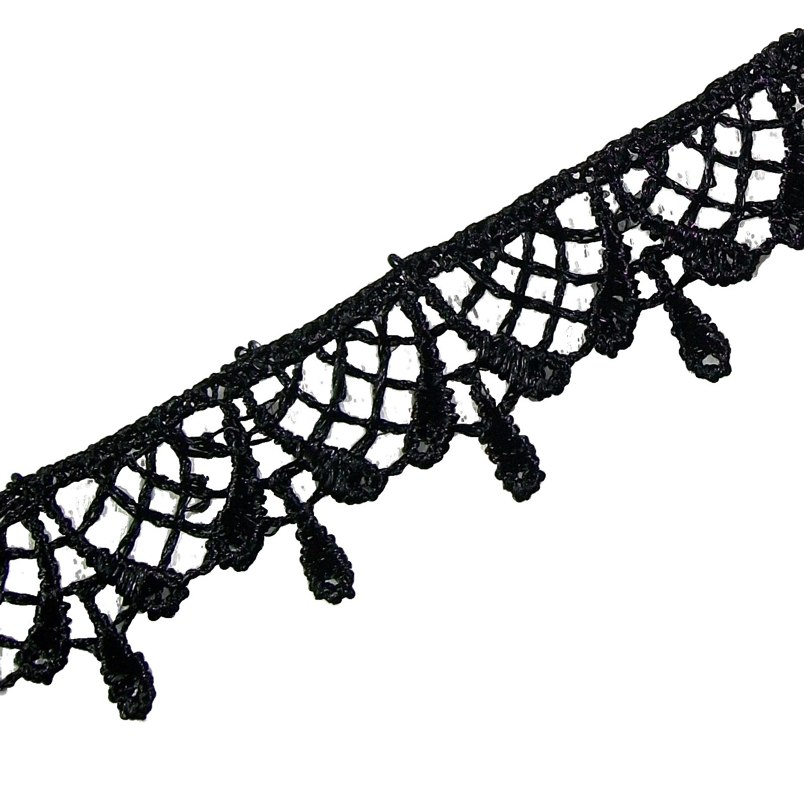 Black Guipure Lace 1.6cm Wide 1 Metre Length