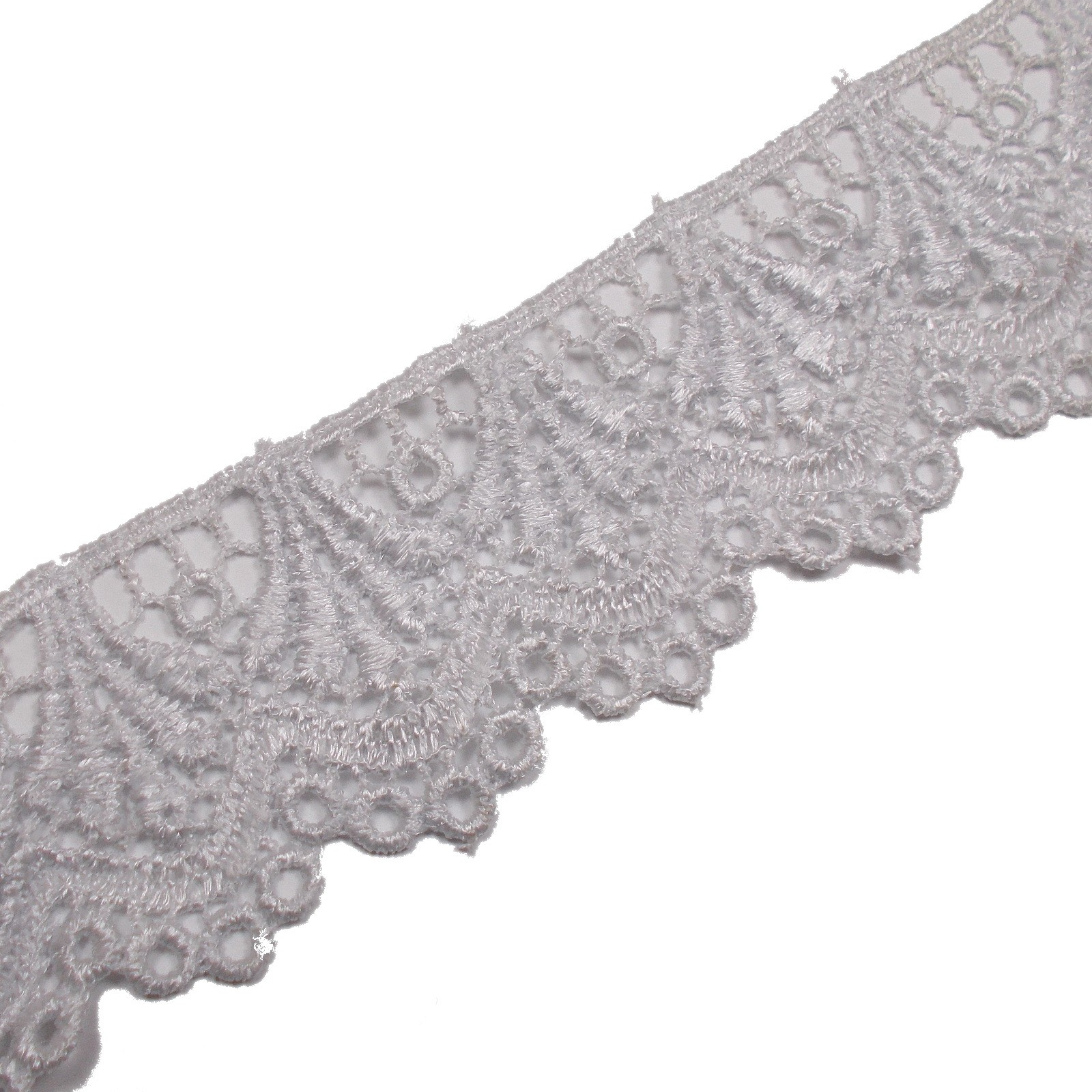 Guipure Lace 5cm wide White 2 metre length
