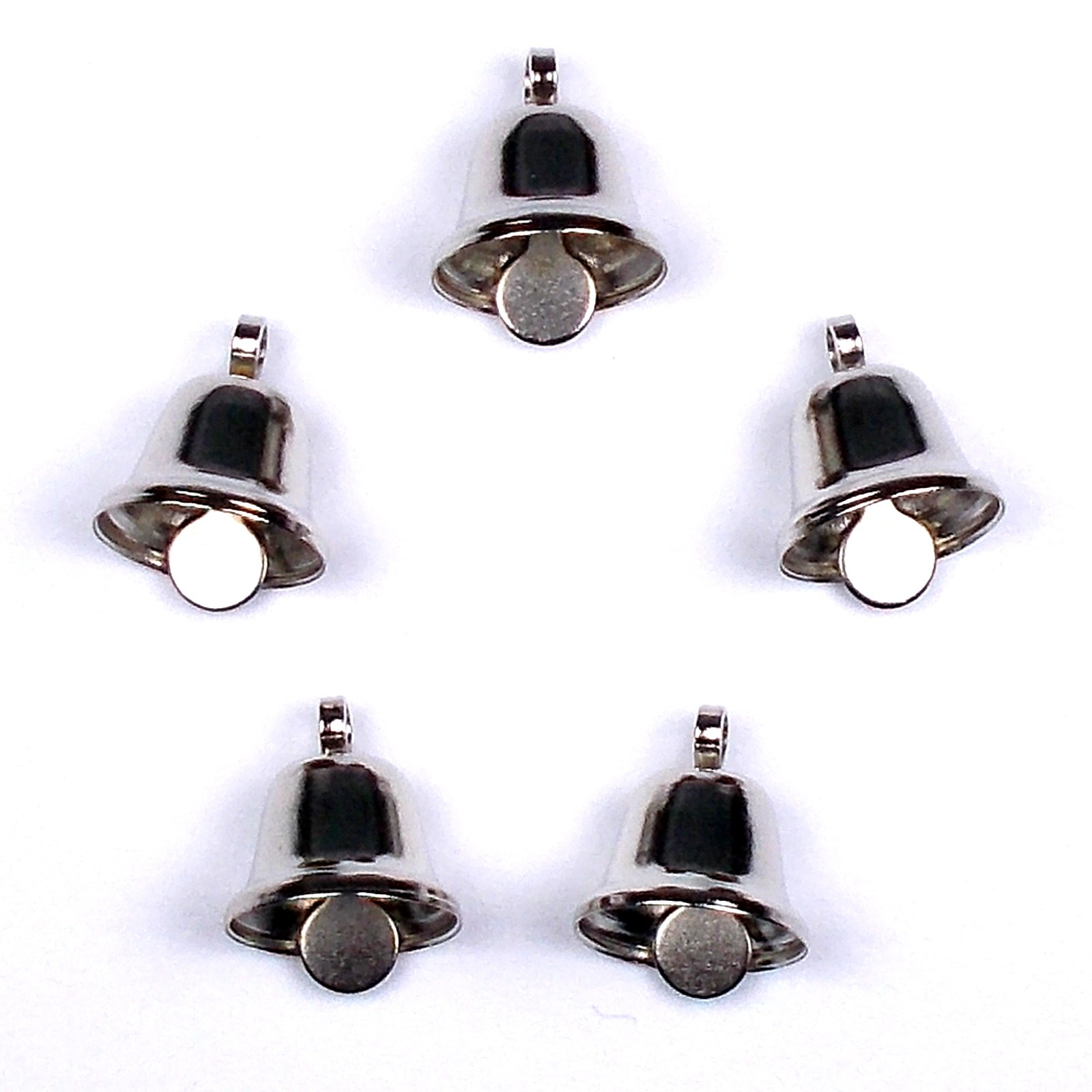 Mini Liberty Bells Silver 8mm Pack of 5