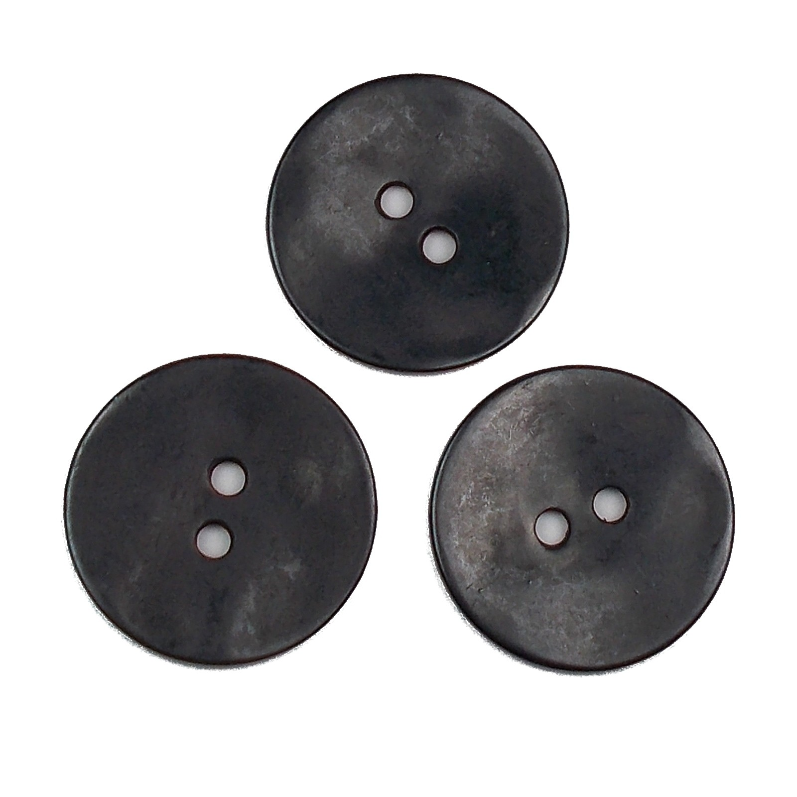 Metal Round Circle Buttons 34mm Black Pack of 3