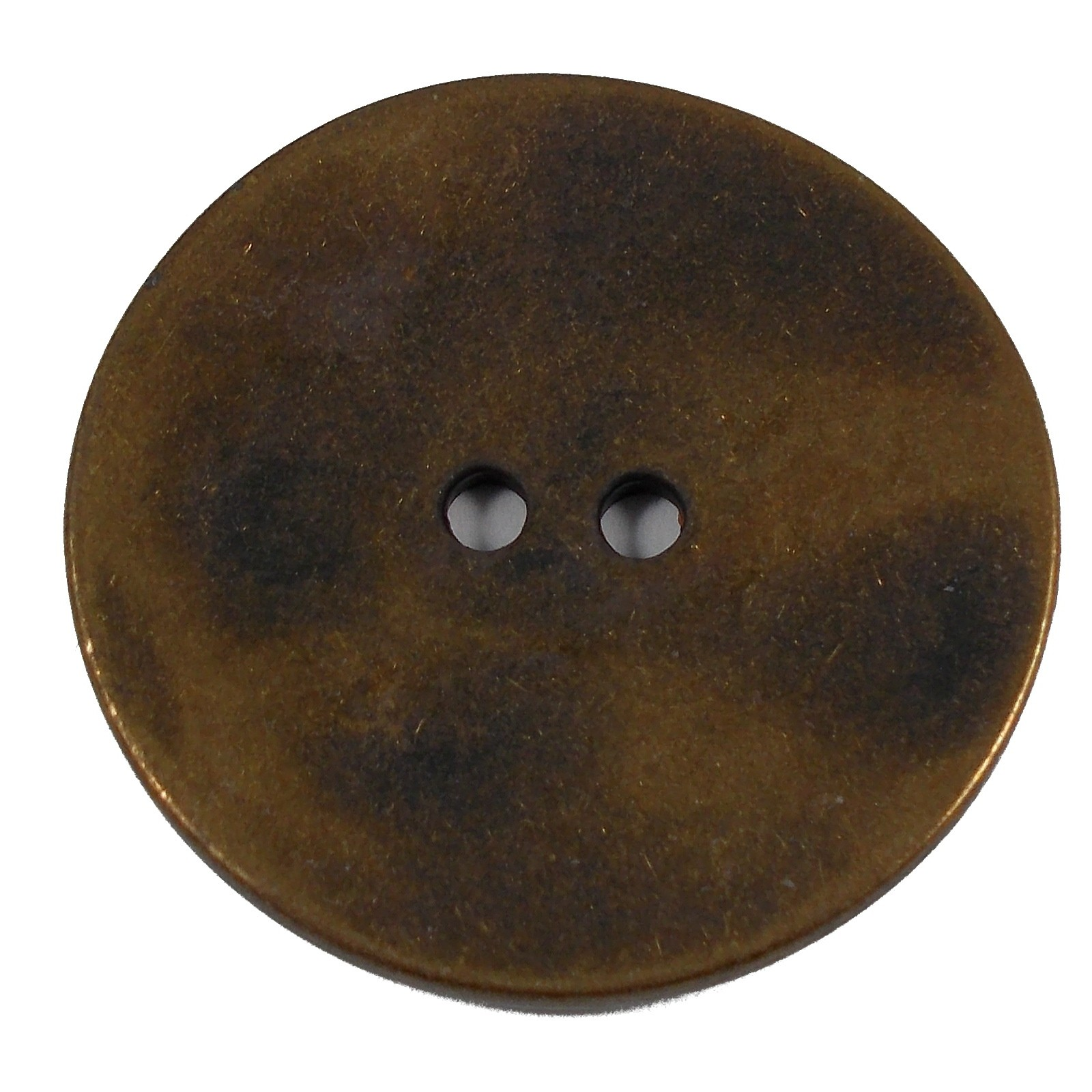 Metal Round Circle Buttons 15mm Brass Pack of 1