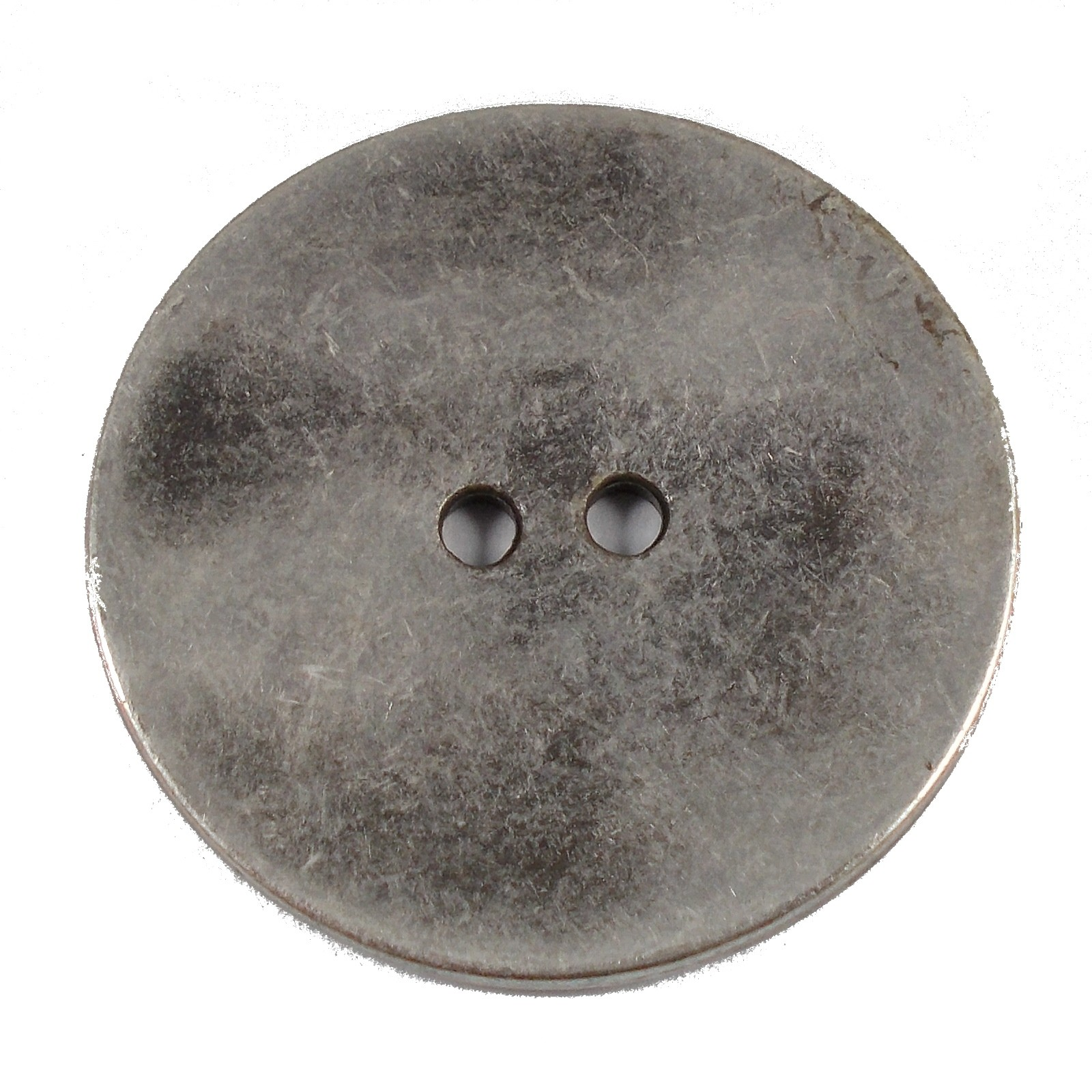 Metal Round Circle Buttons 28mm Silver Pack of 1