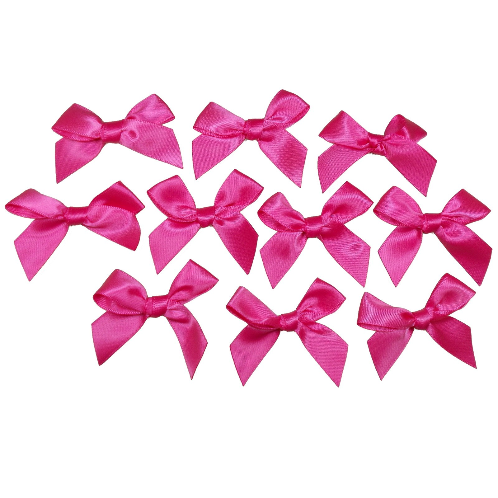 Satin Ribbon Bows approx 5.5cm wide Dark Pink Pack of 10