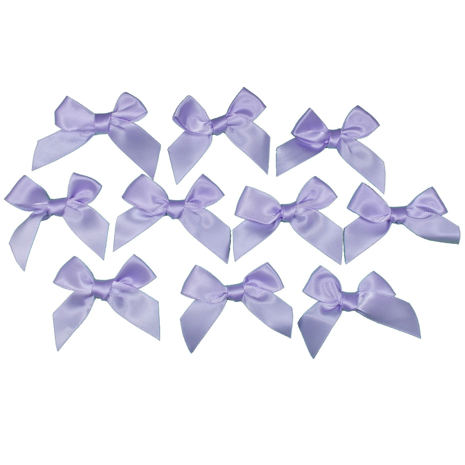 Satin Ribbon Bows approx 5.5cm wide Lilac Pack of 10