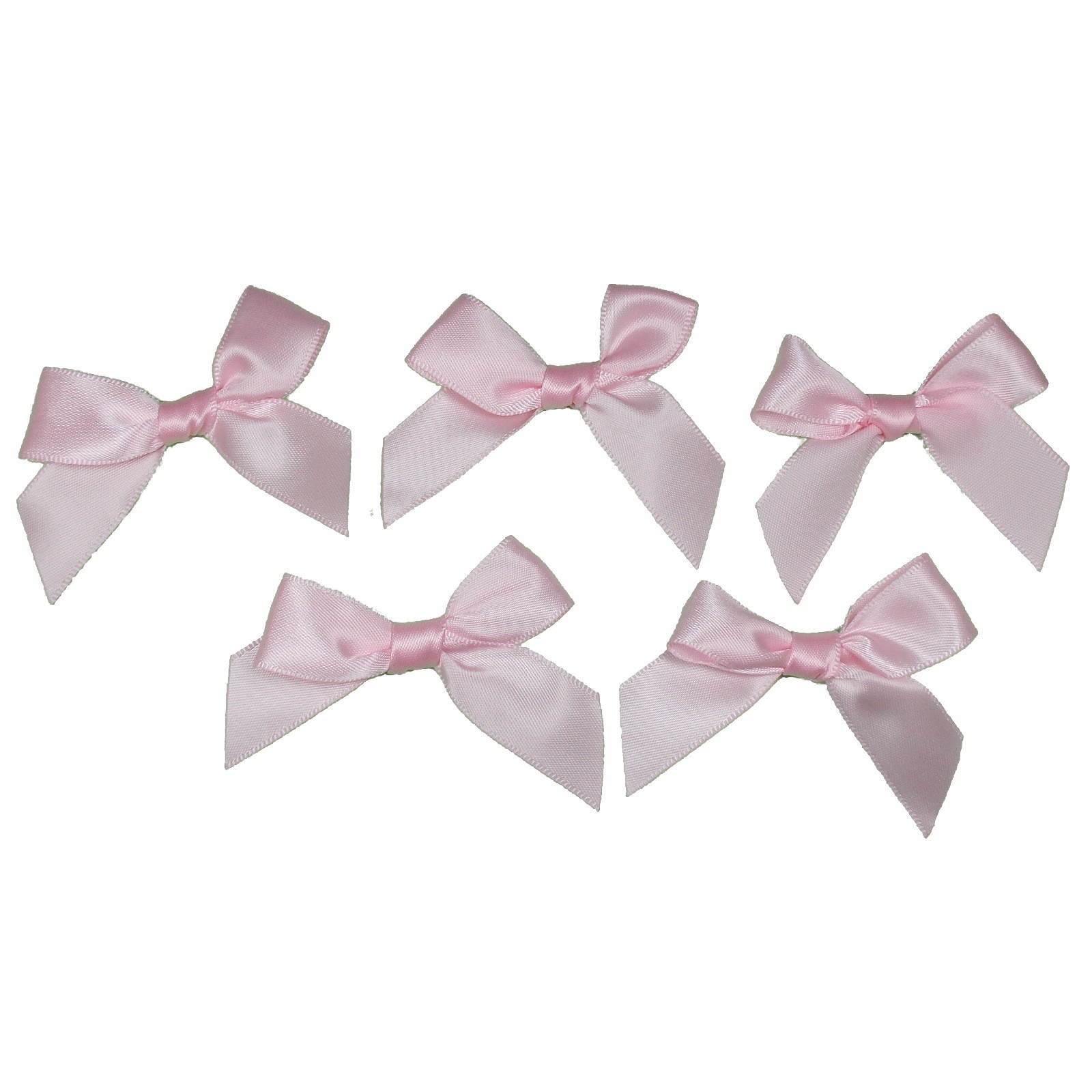 Satin Ribbon Bows approx 5.5cm wide Pale Pink Pack of 5