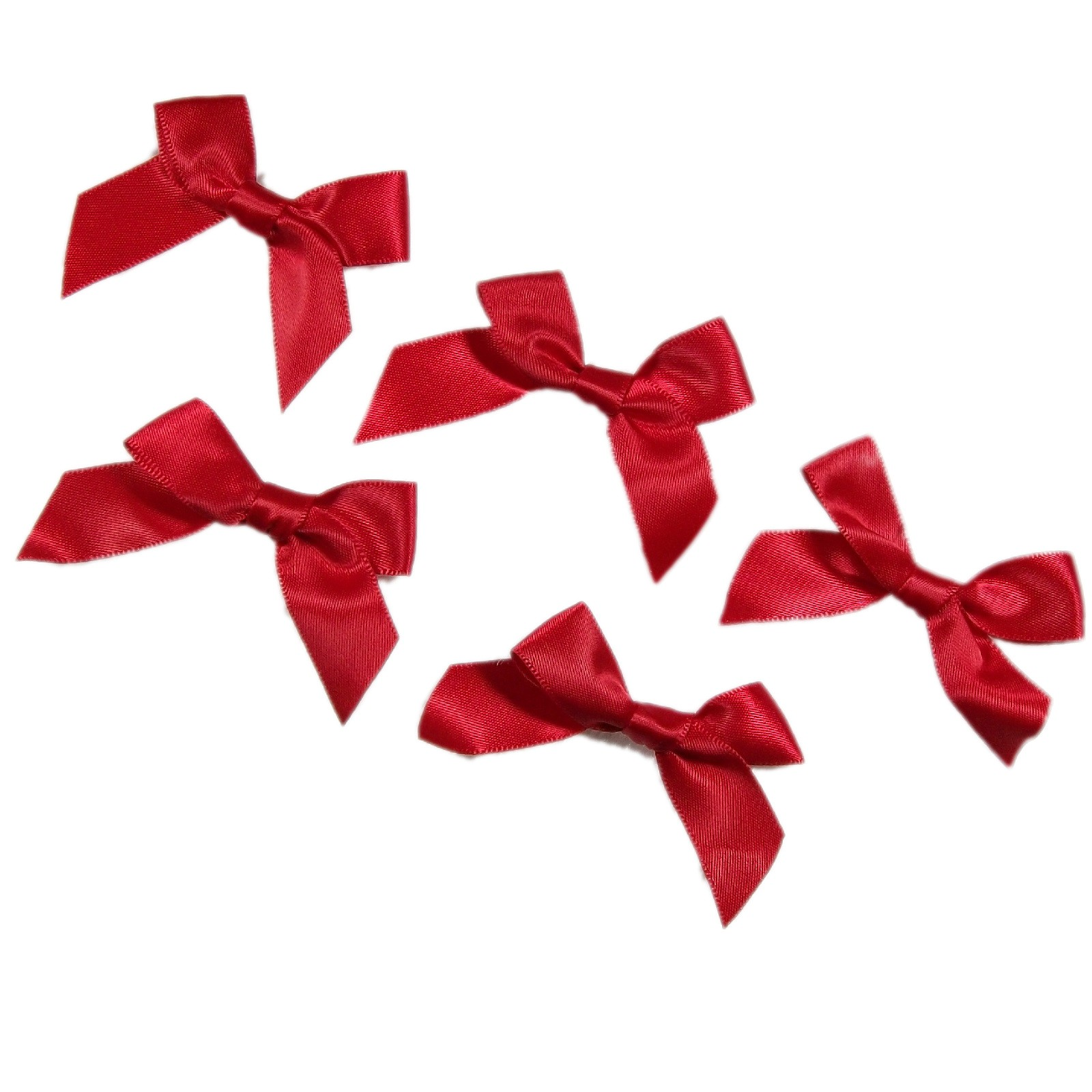 Satin Ribbon Bows approx 5.5cm wide Red Pack of 5