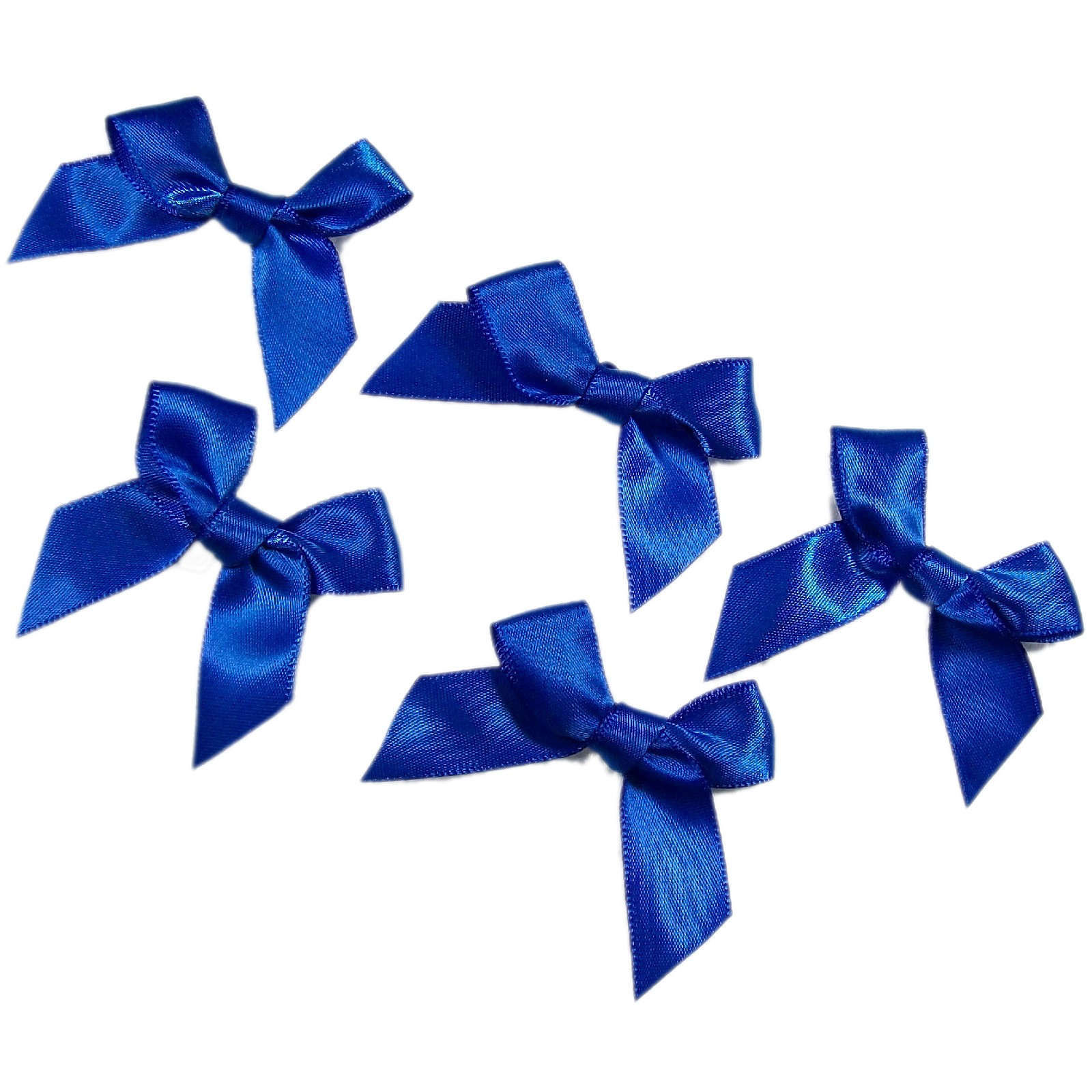 Satin Ribbon Bows approx 5.5cm wide Royal Blue Pack of 5