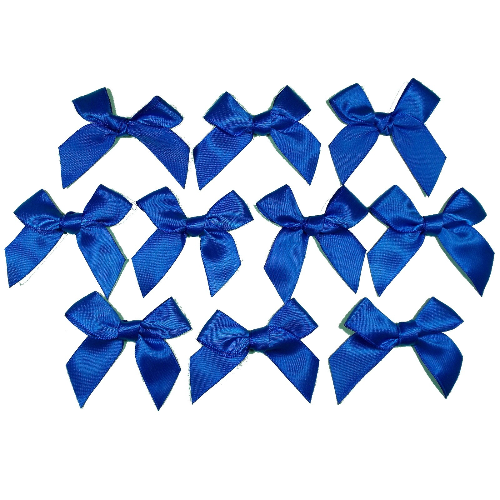 Satin Ribbon Bows approx 5.5cm wide Royal Blue Pack of 10