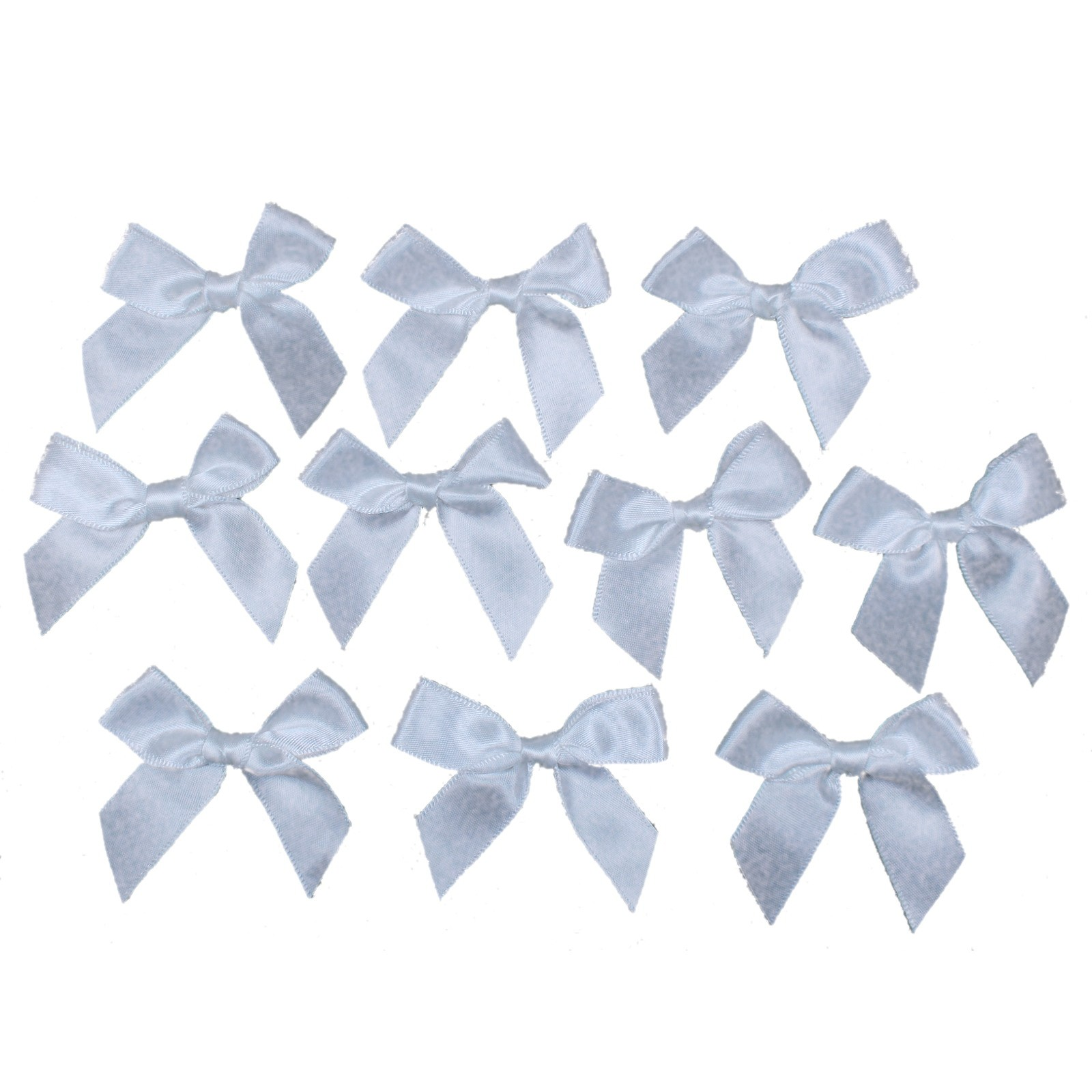 Satin Ribbon Bows approx 5.5cm wide White Pack of 10