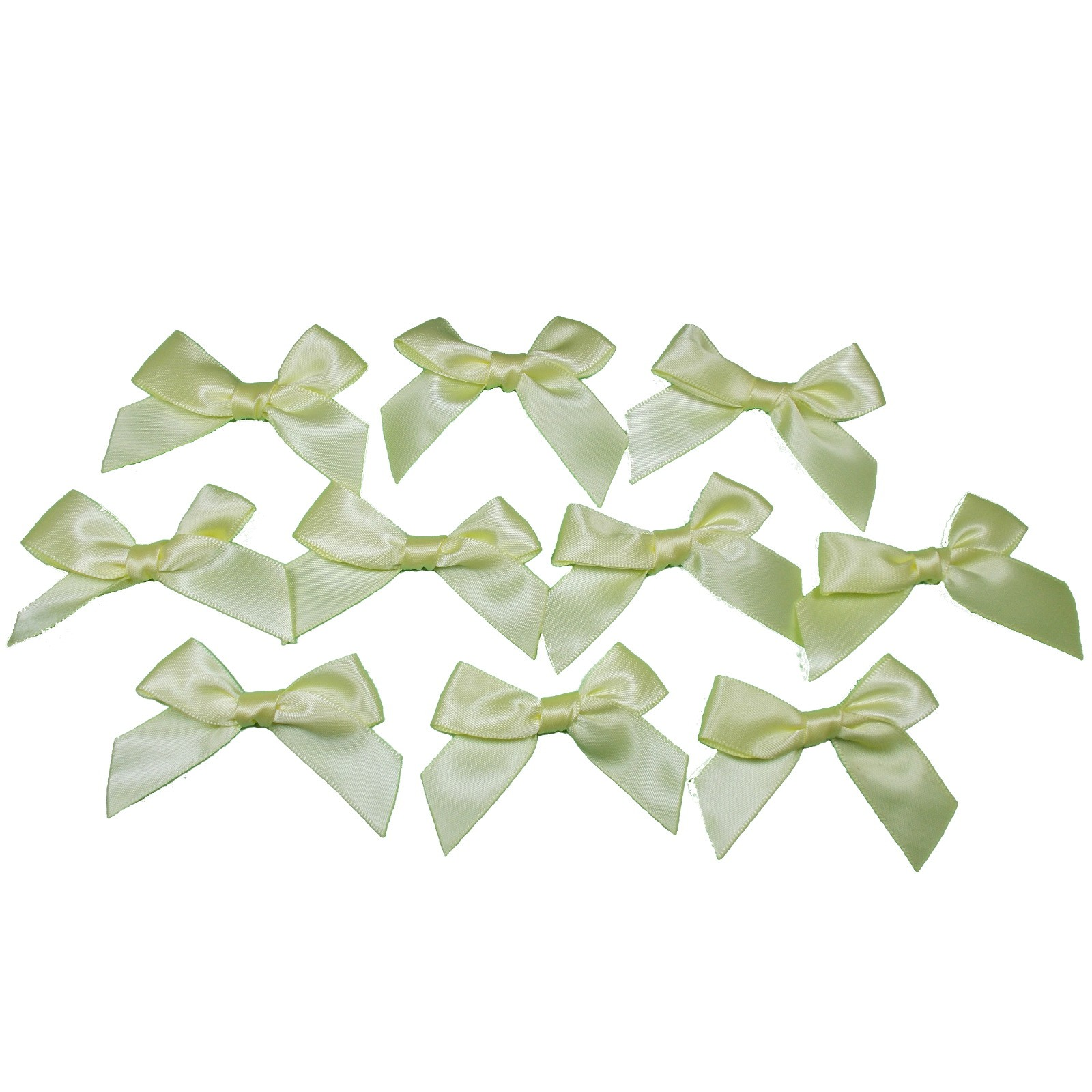 Satin Ribbon Bows approx 5.5cm wide Yellow Pack of 10