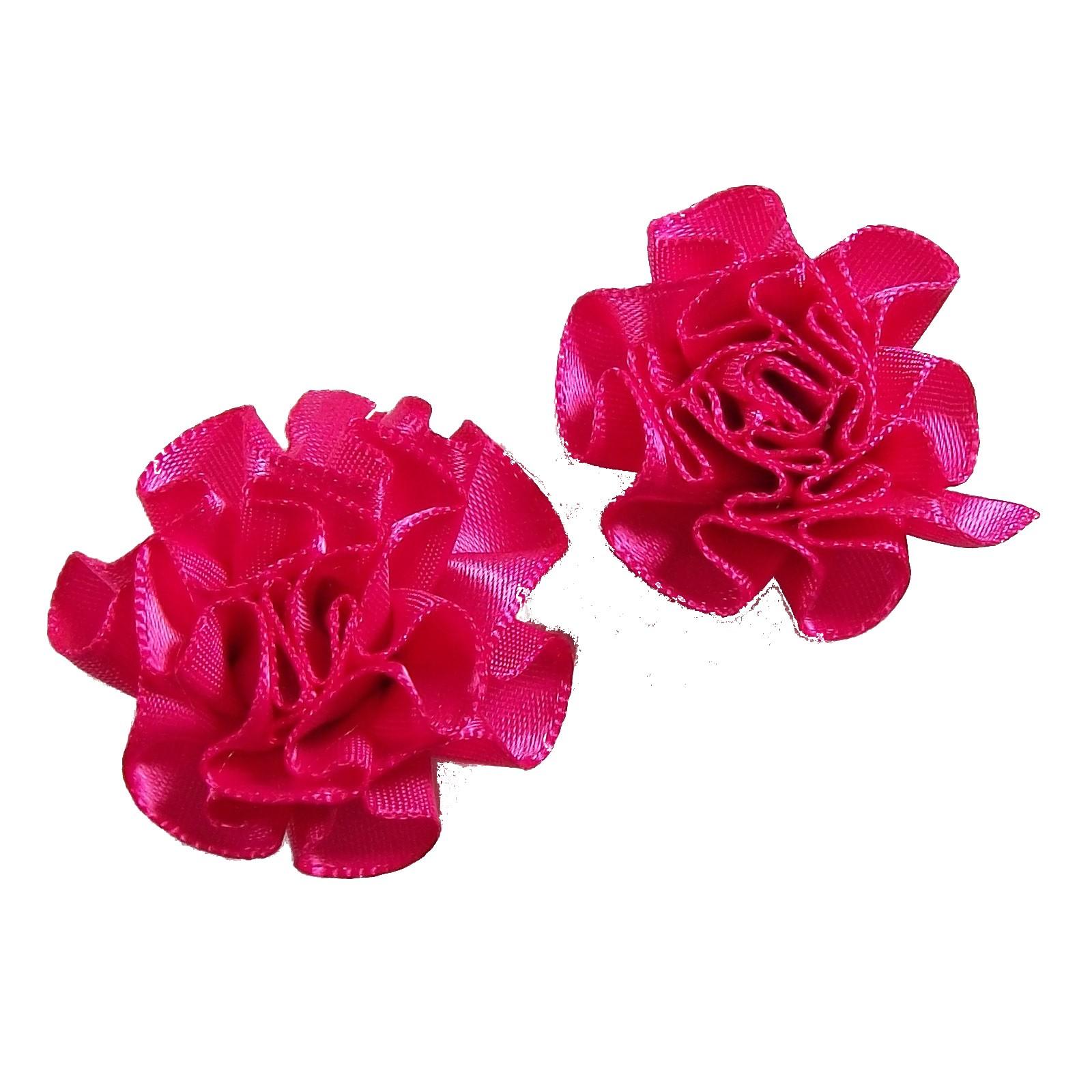 Satin Ribbon Rosettes Flowers Roses 3cm Wide