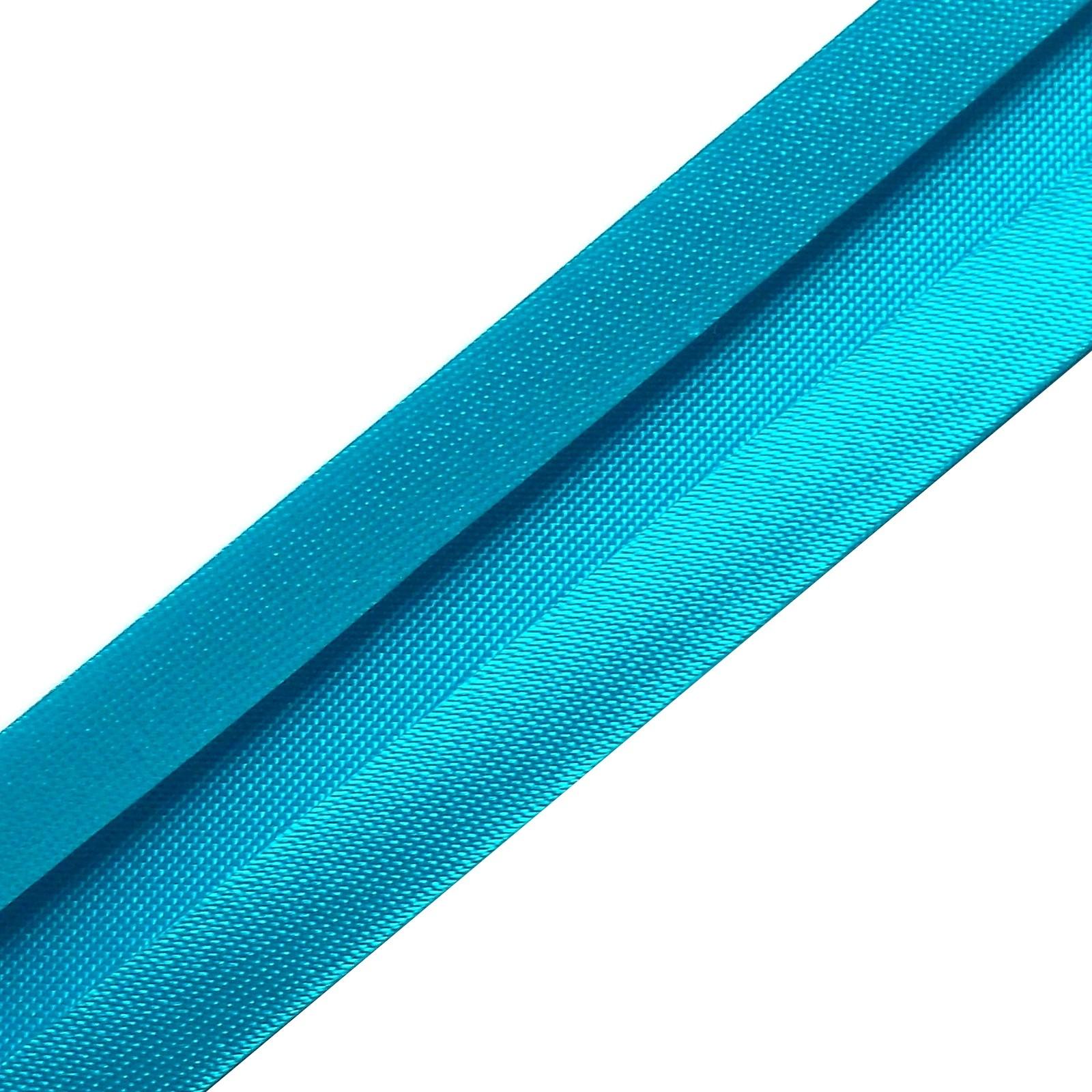 Satin Bias Binding 19mm wide Deep Turquoise 3 metre length